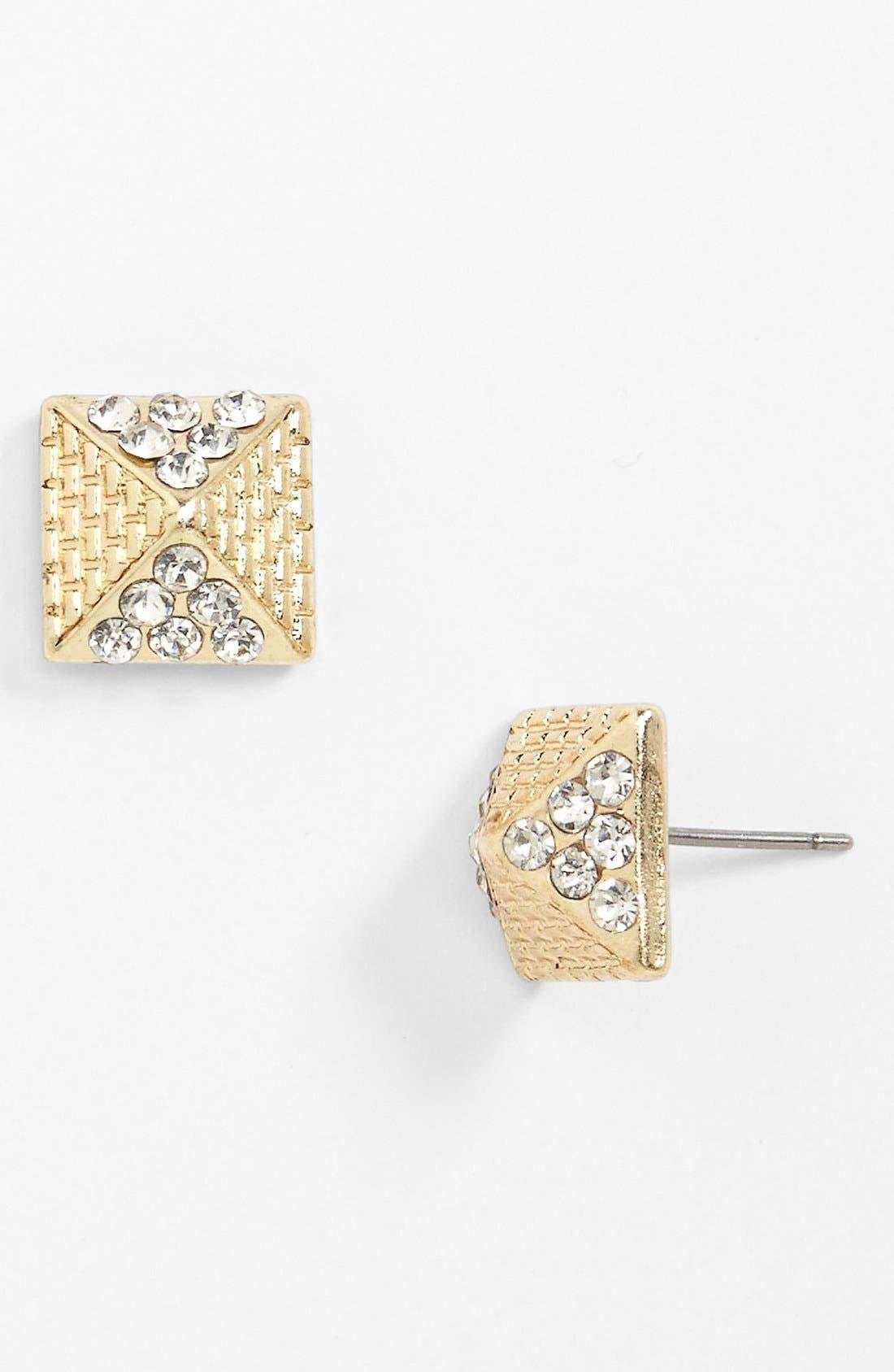 Alternate Image 1 Selected - Stephan & Co. Pyramid Stud Earrings