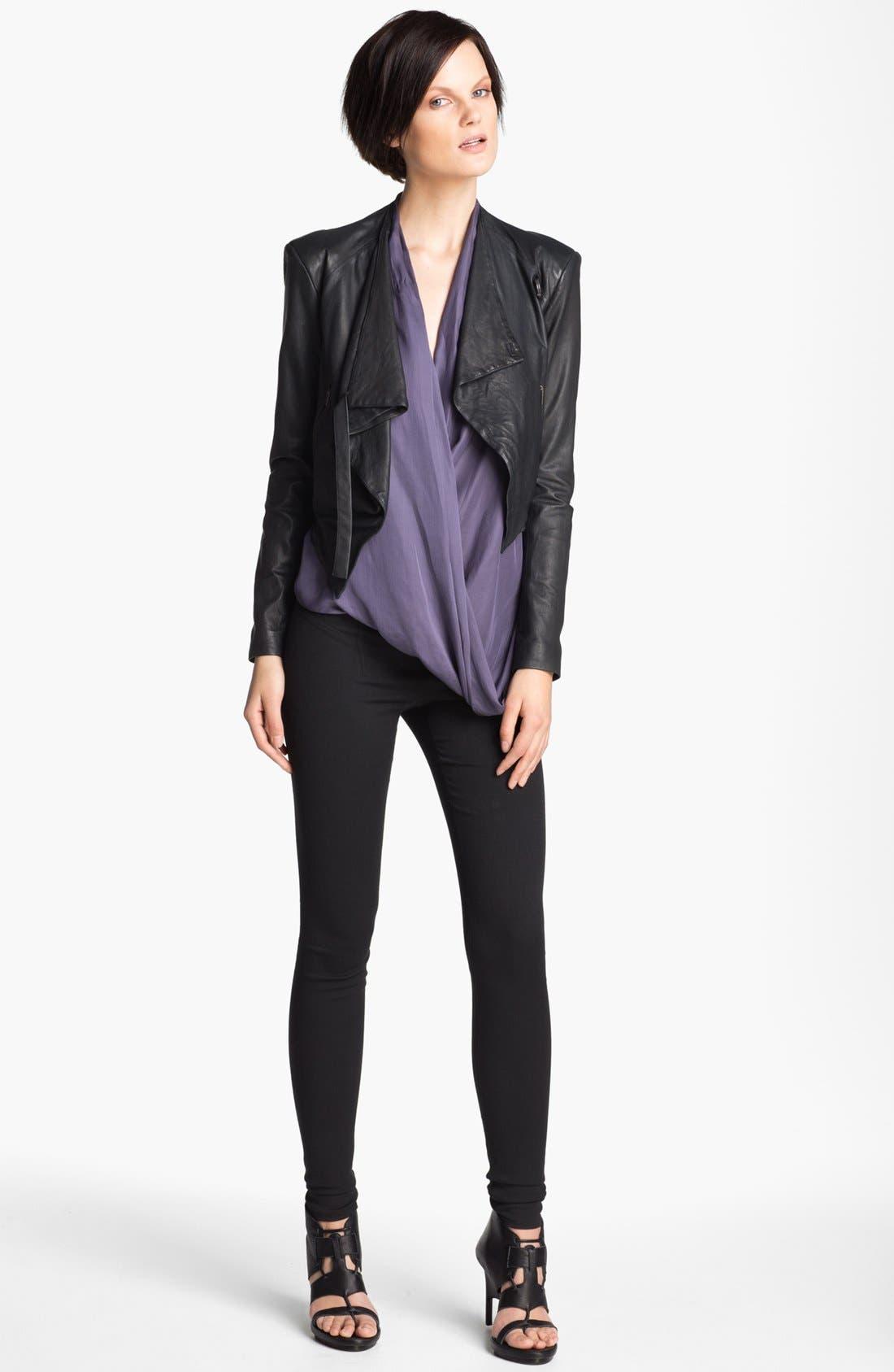 Alternate Image 2  - HELMUT Helmut Lang Washed Leather Jacket