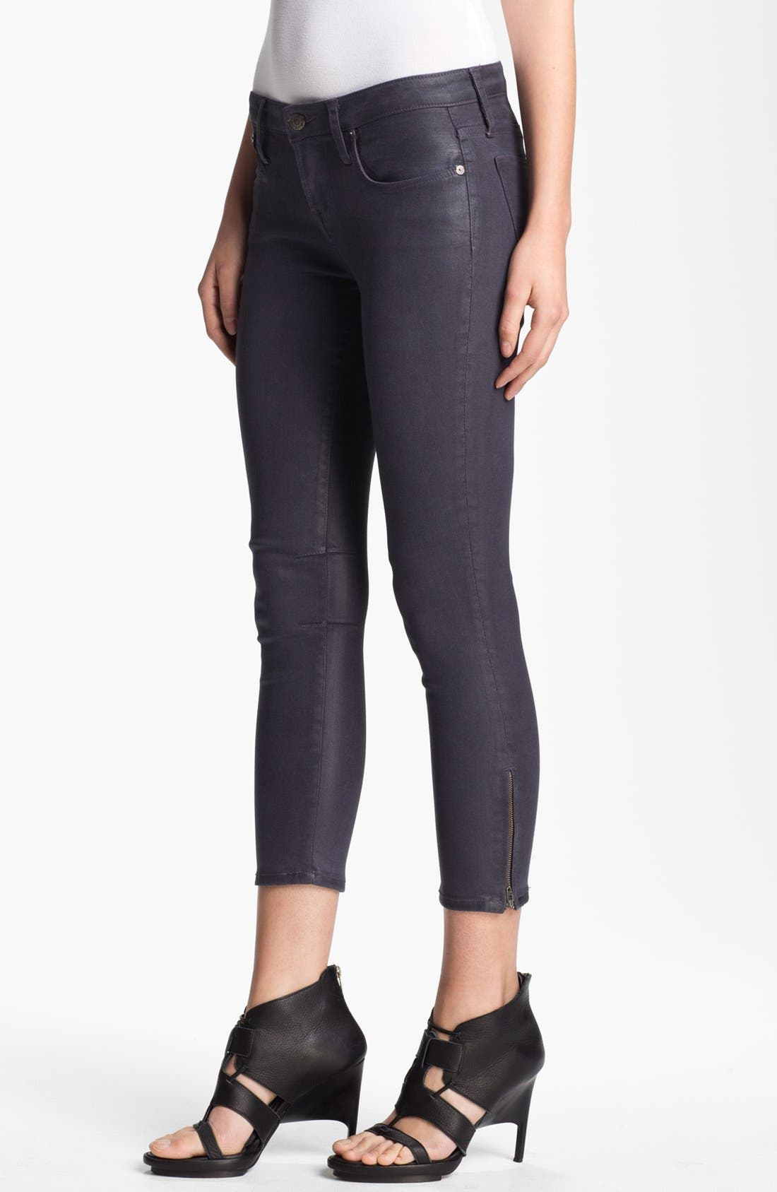 Main Image - HELMUT Helmut Lang 'High Gloss Halo' Skinny Crop Jeans