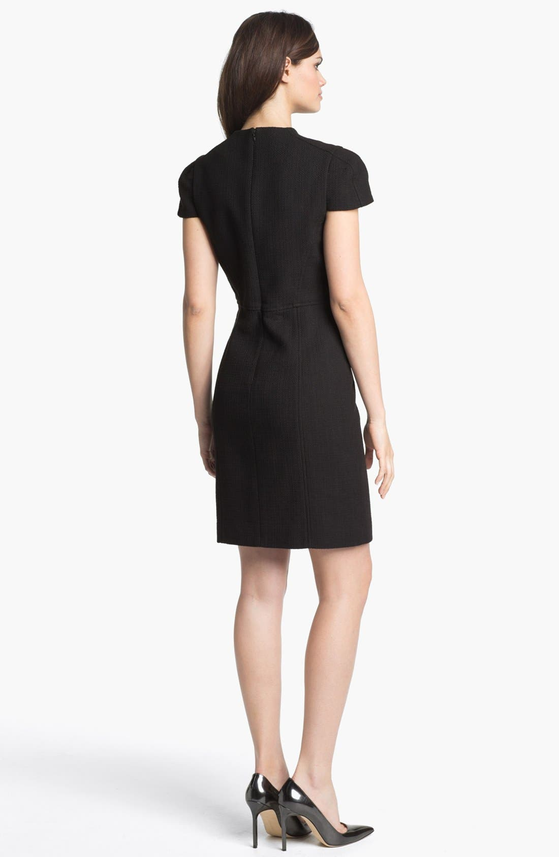 Alternate Image 2  - 4.collective Basket Weave Sheath Dress