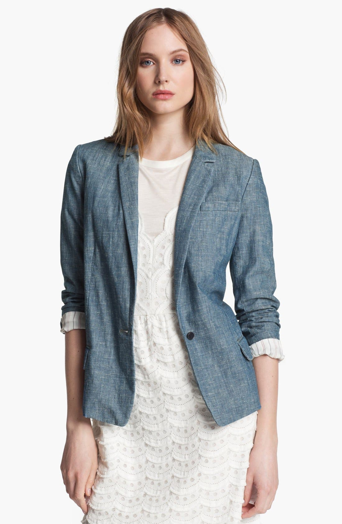 Alternate Image 1 Selected - MARC BY MARC JACOBS 'Corey' Chambray Blazer