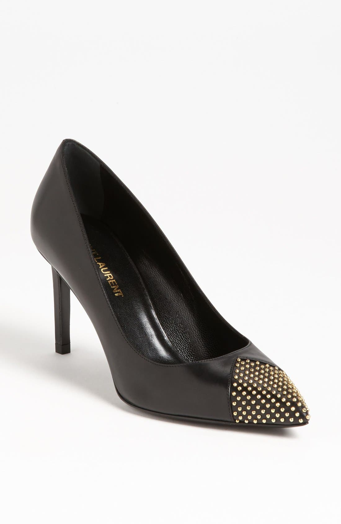 Alternate Image 1 Selected - Saint Laurent Studded Toe Pump