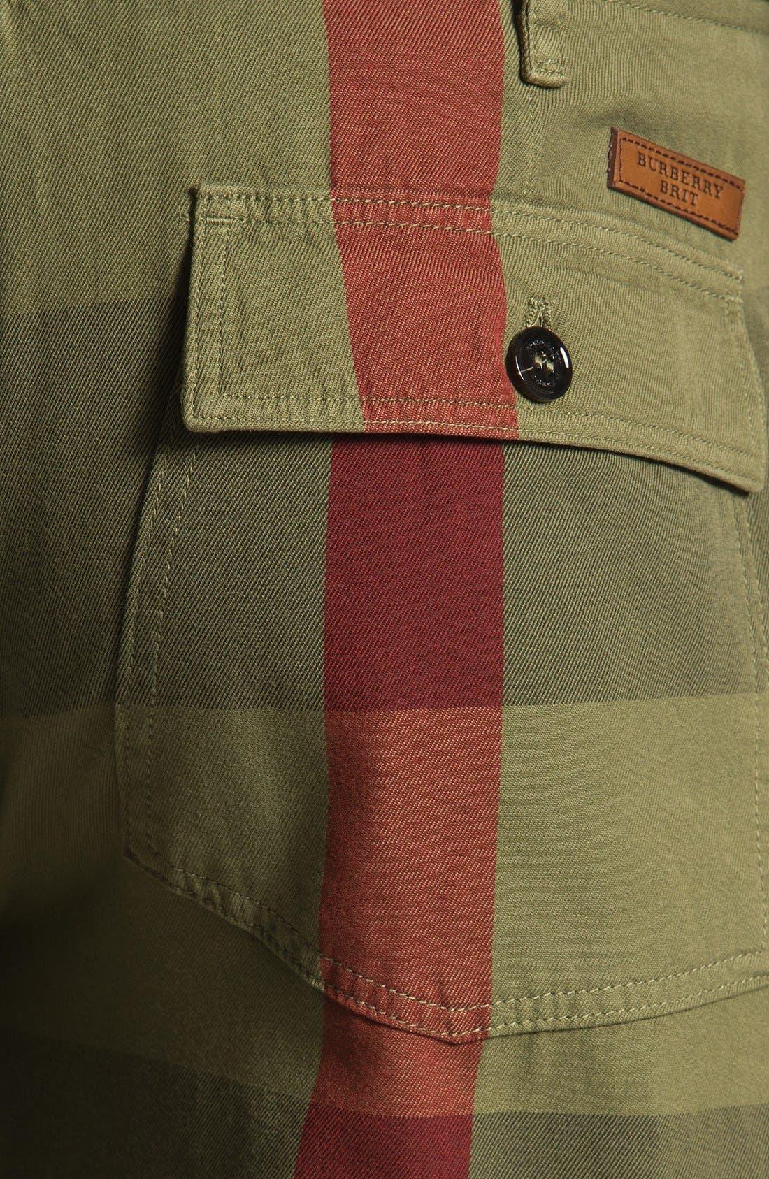 Alternate Image 3  - Burberry Brit Check Print Shorts