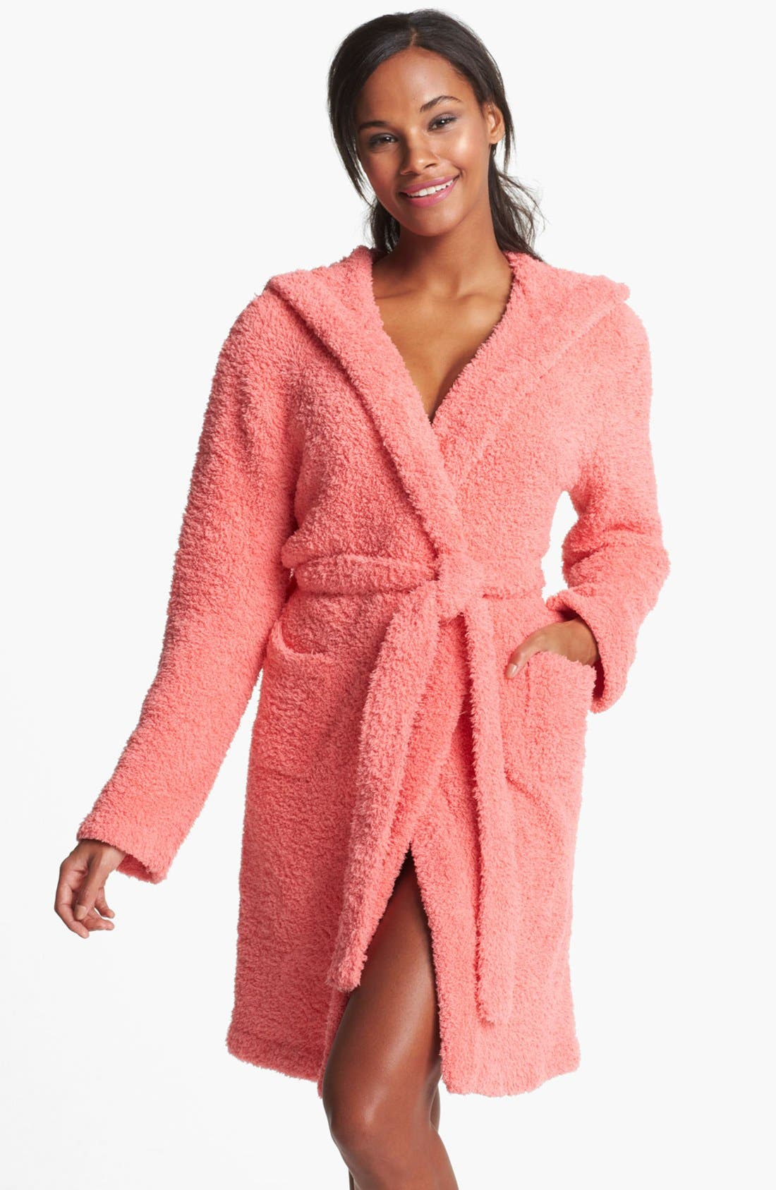 Main Image - Barefoot Dreams® CozyChic® Short Hooded Robe
