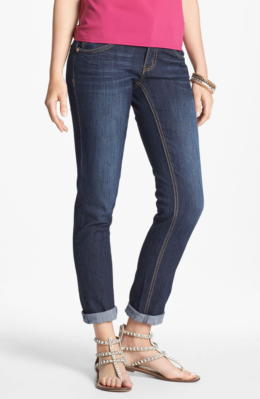 Alternate Image 2  - Jolt Skinny Jeans (Juniors) (Online Only)