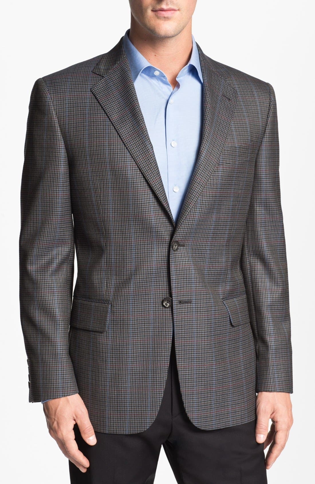 Main Image - Joseph Abboud 'Signature Silver' Check Wool Sportcoat