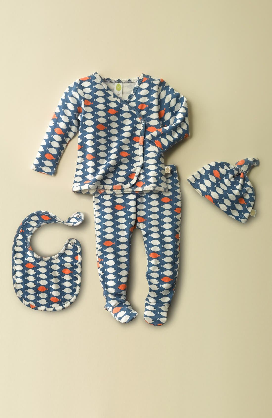 Alternate Image 2  - Stem Baby Organic Cotton Shirt, Pants, Hat & Bib (Baby Boys)