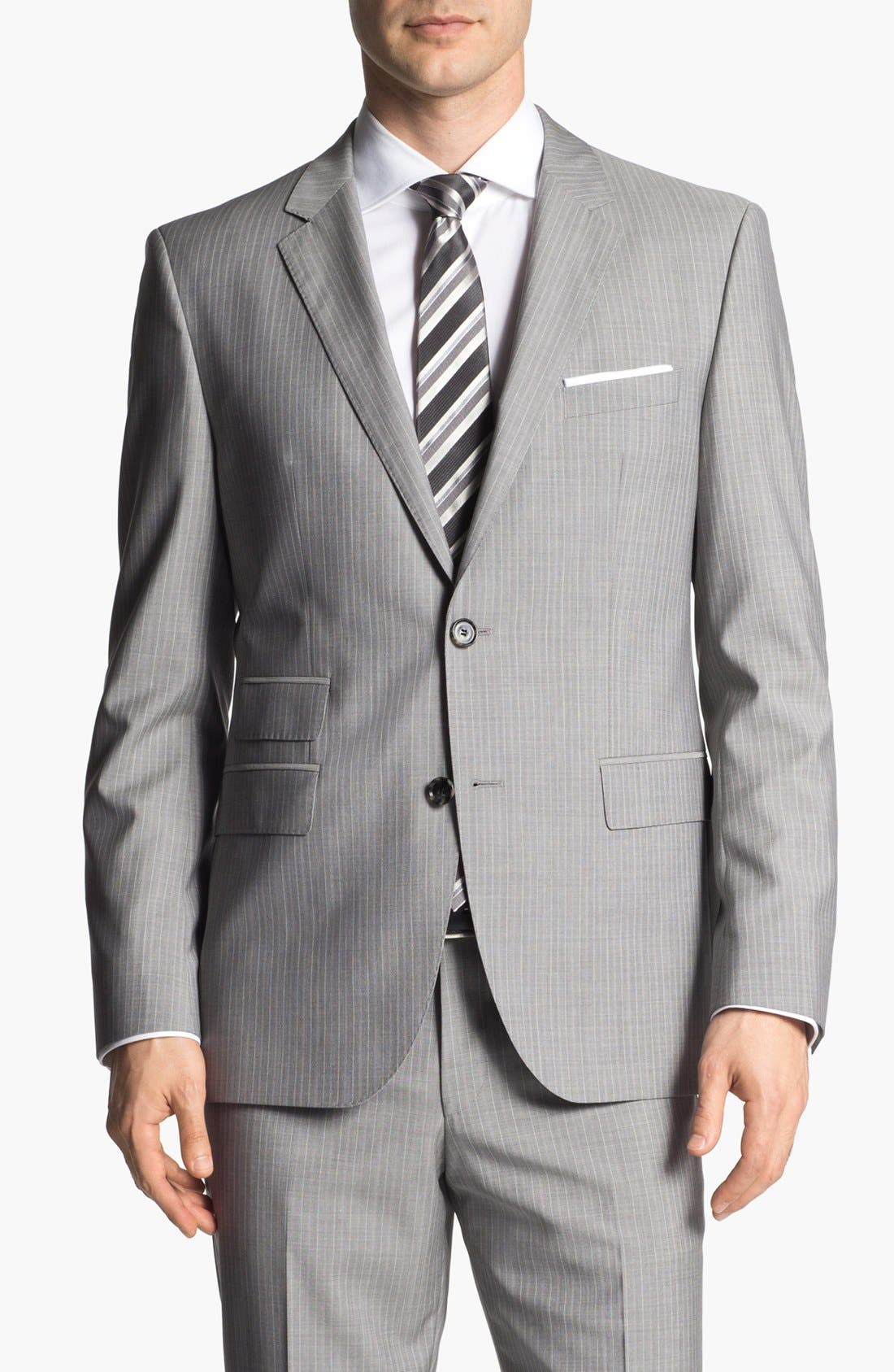 Alternate Image 4  - BOSS HUGO BOSS 'The Sweet/Sharp' Trim Fit Stripe Suit