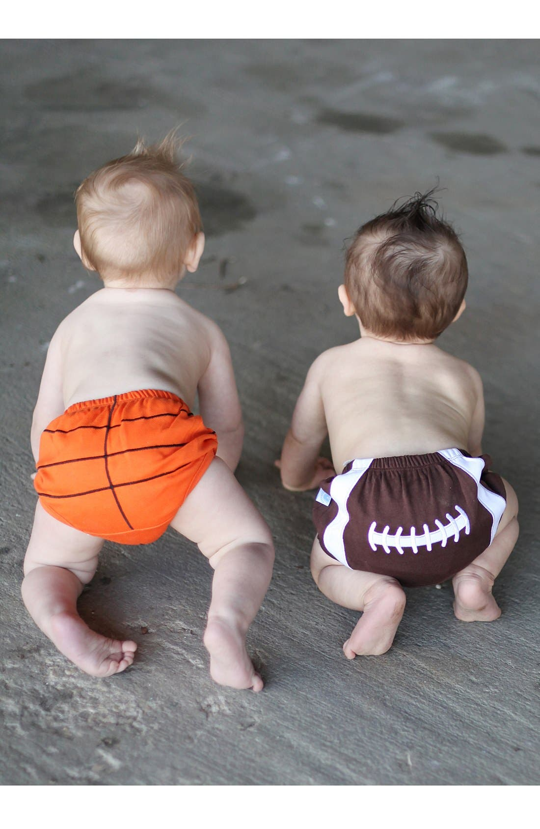 Alternate Image 2  - RuggedButts 'Sports' Diaper Cover (Set of 2) (Baby)