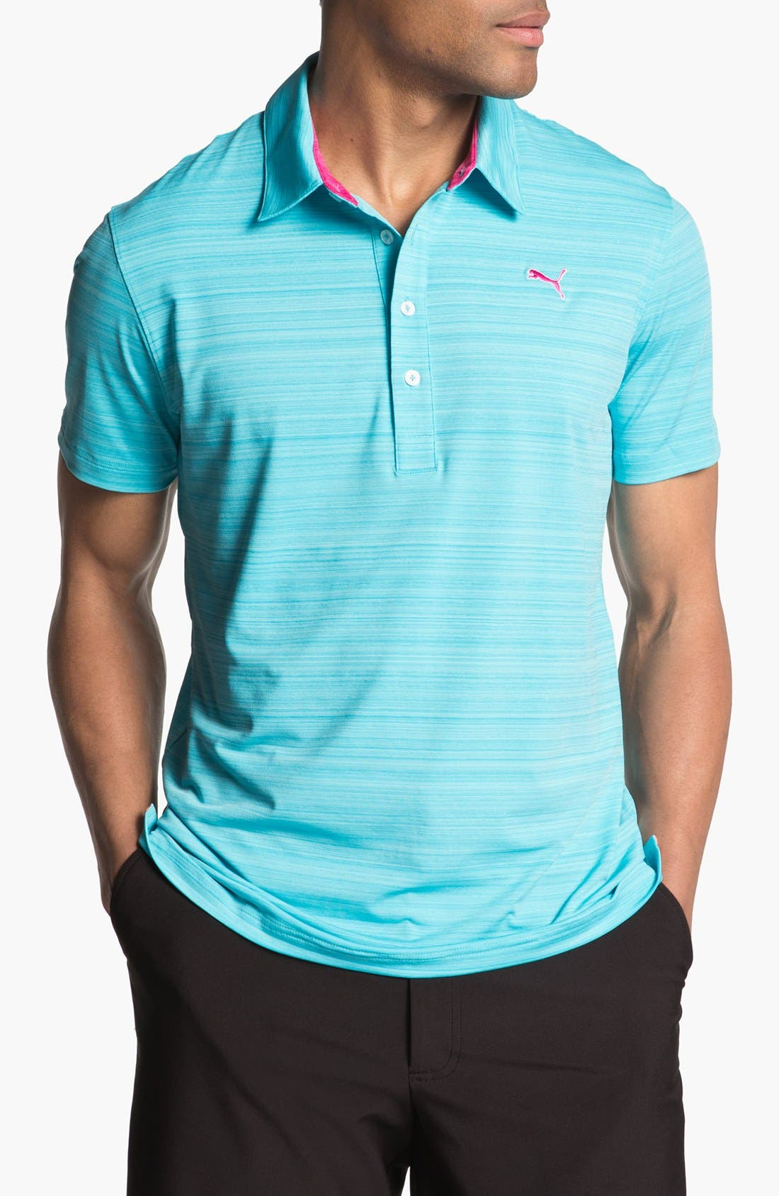 Alternate Image 1 Selected - PUMA GOLF 'Barcode Stripe' dryCELL™ Polo