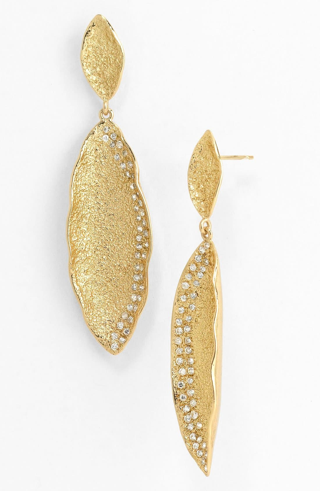 'Mademoiselle' Pod Drop Earrings,                             Main thumbnail 1, color,                             Gold/ Clear
