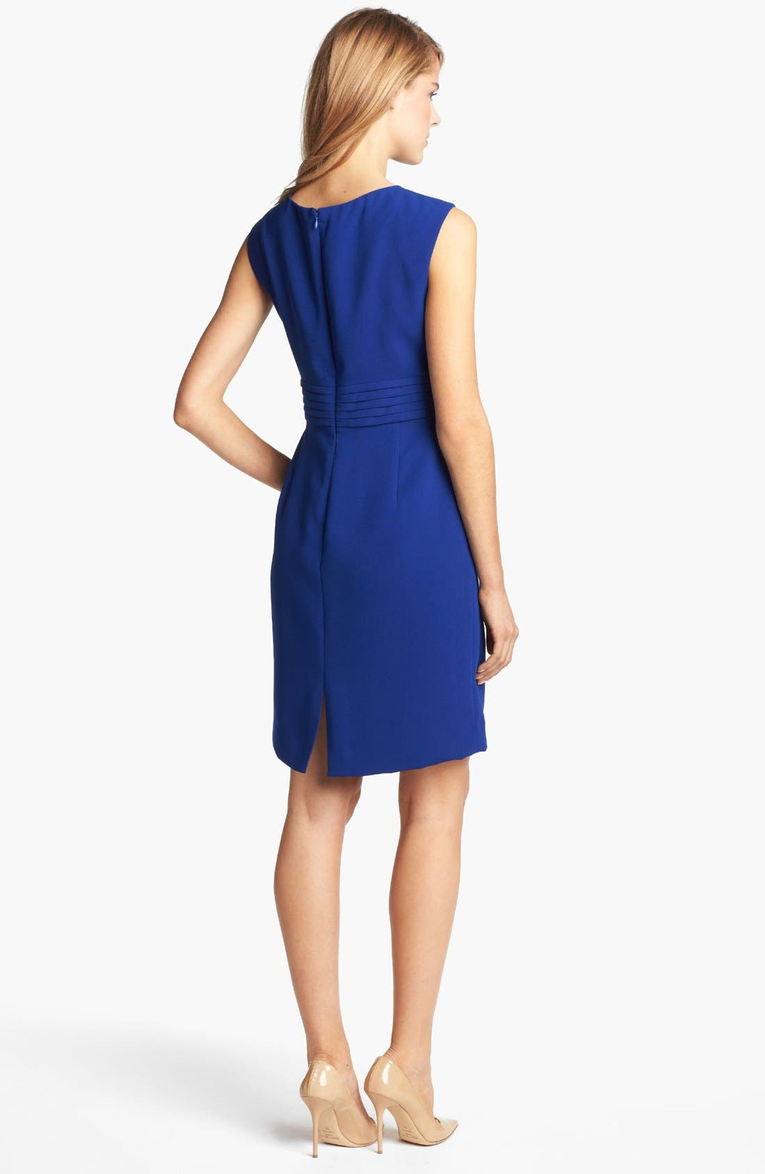 Alternate Image 2  - Tahari by Arthur S. Levine Sleeveless Crepe Sheath Dress (Regular & Petite)