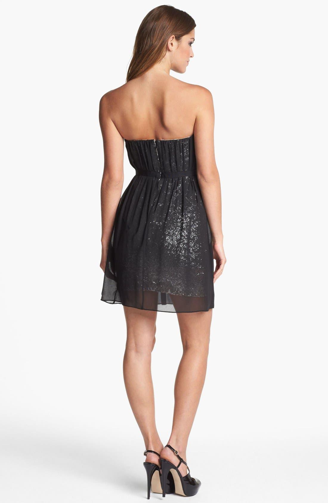 Alternate Image 2  - ERIN erin fetherston Strapless Embellished Chiffon Dress