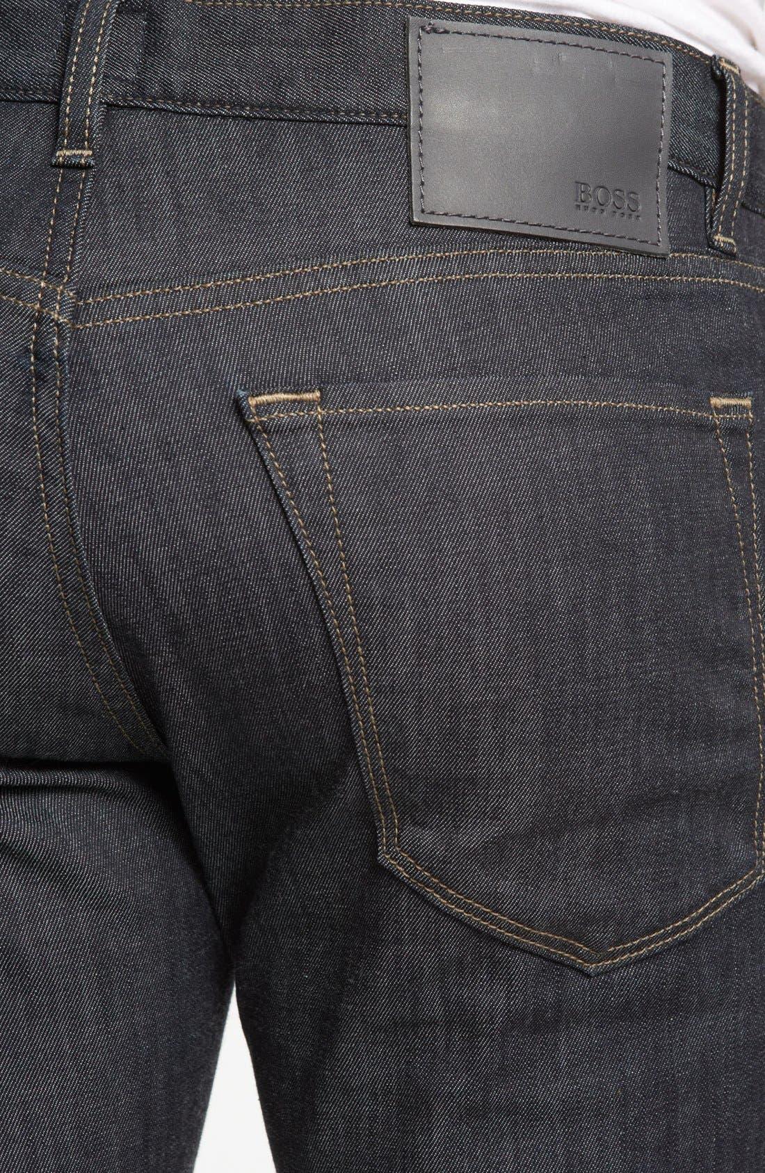 Alternate Image 4  - BOSS HUGO BOSS 'Maine' Straight Leg Jeans (Rinse)