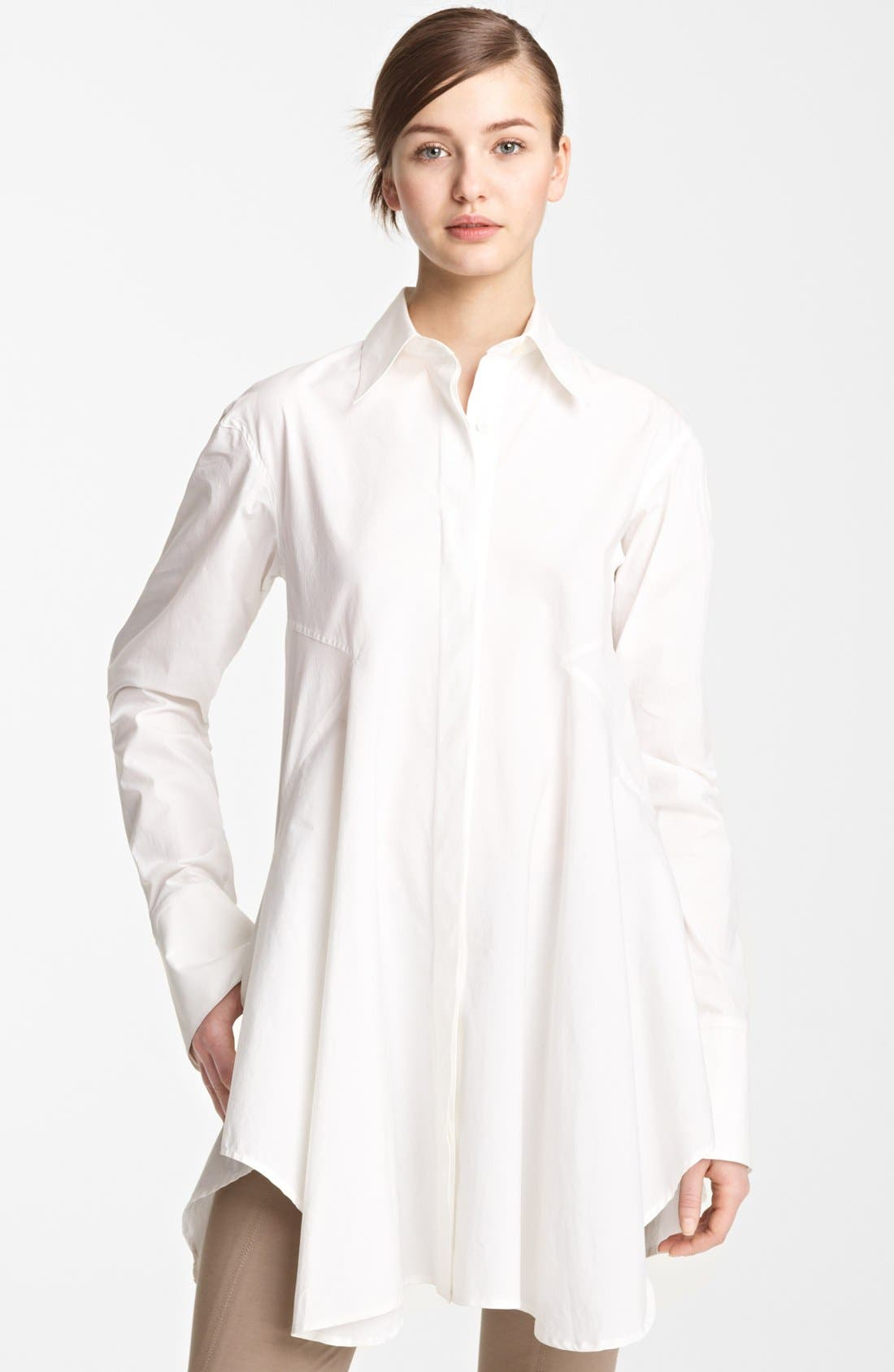 Alternate Image 1 Selected - Donna Karan Collection Easy Stretch Cotton Shirt
