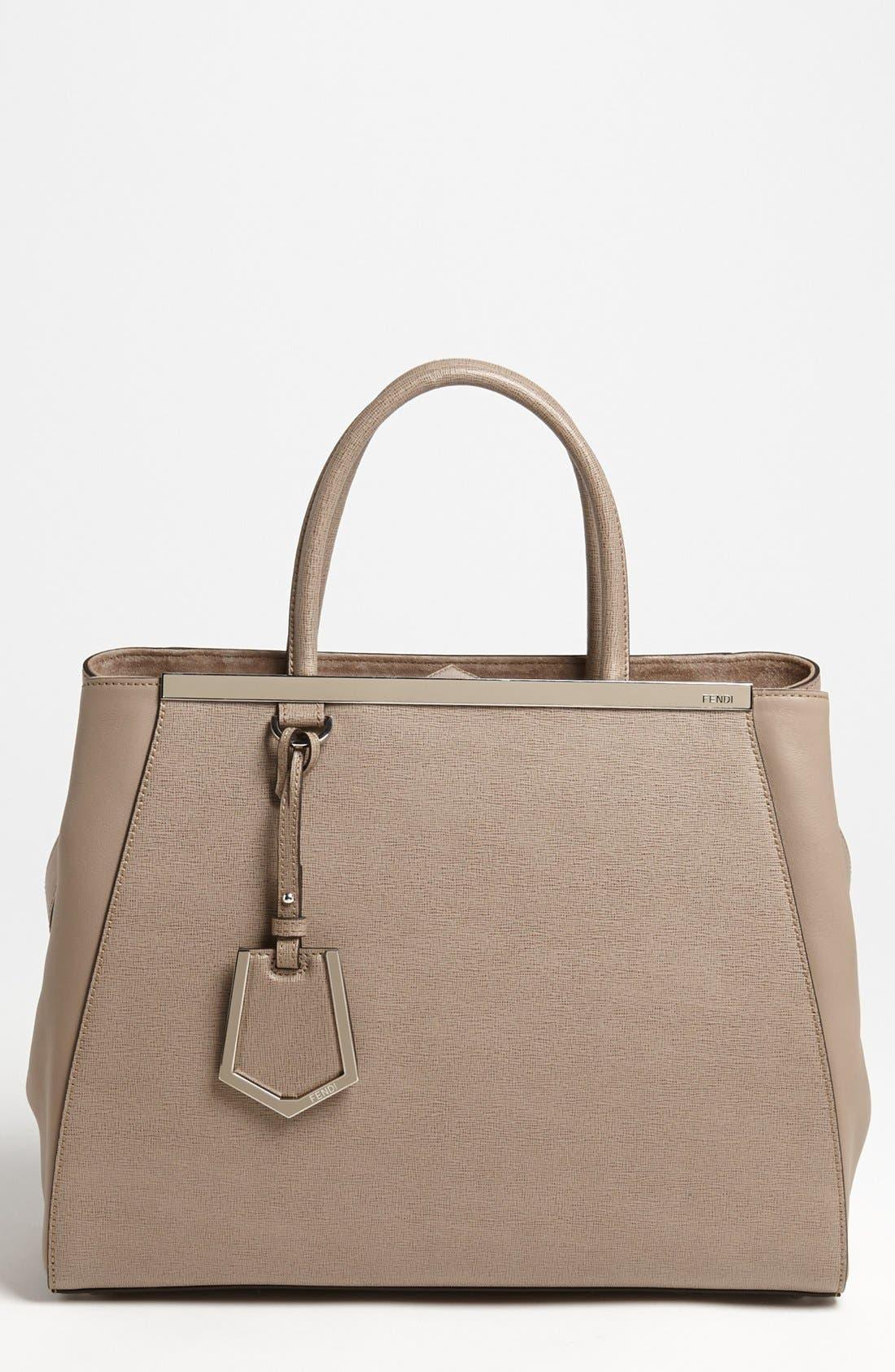 Alternate Image 1 Selected - Fendi '2Jours Elite' Leather Shopper