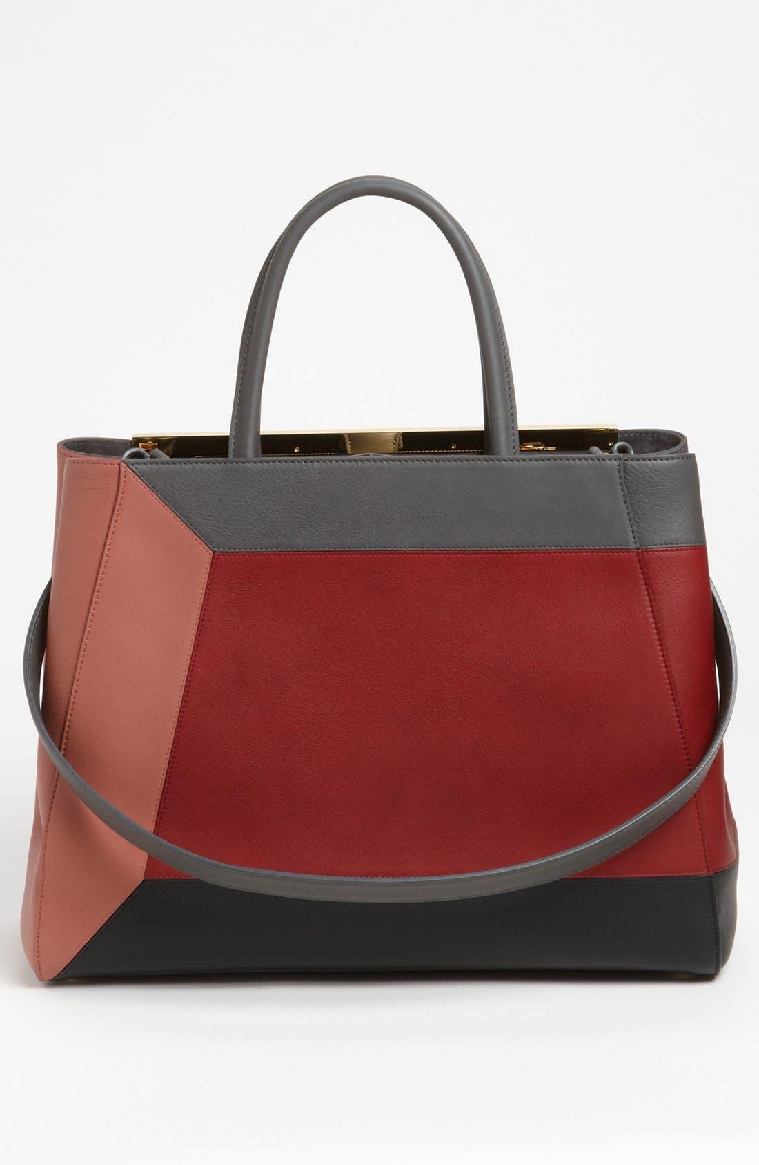 Alternate Image 4  - Fendi 'Geometric 2Jours - Medium' Leather Shopper