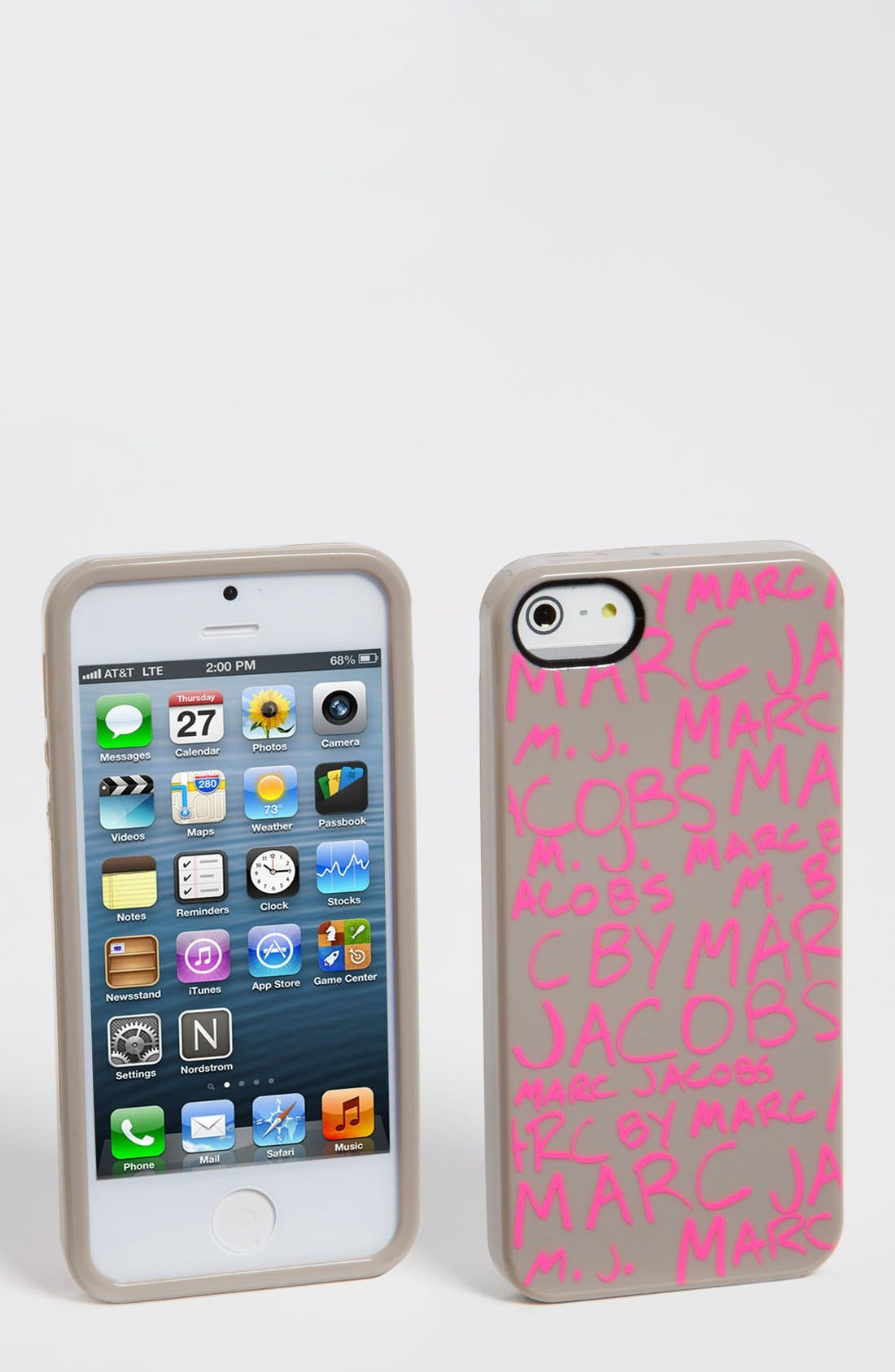 Alternate Image 1 Selected - MARC BY MARC JACOBS 'Scribble Print' iPhone 5 & 5S Case