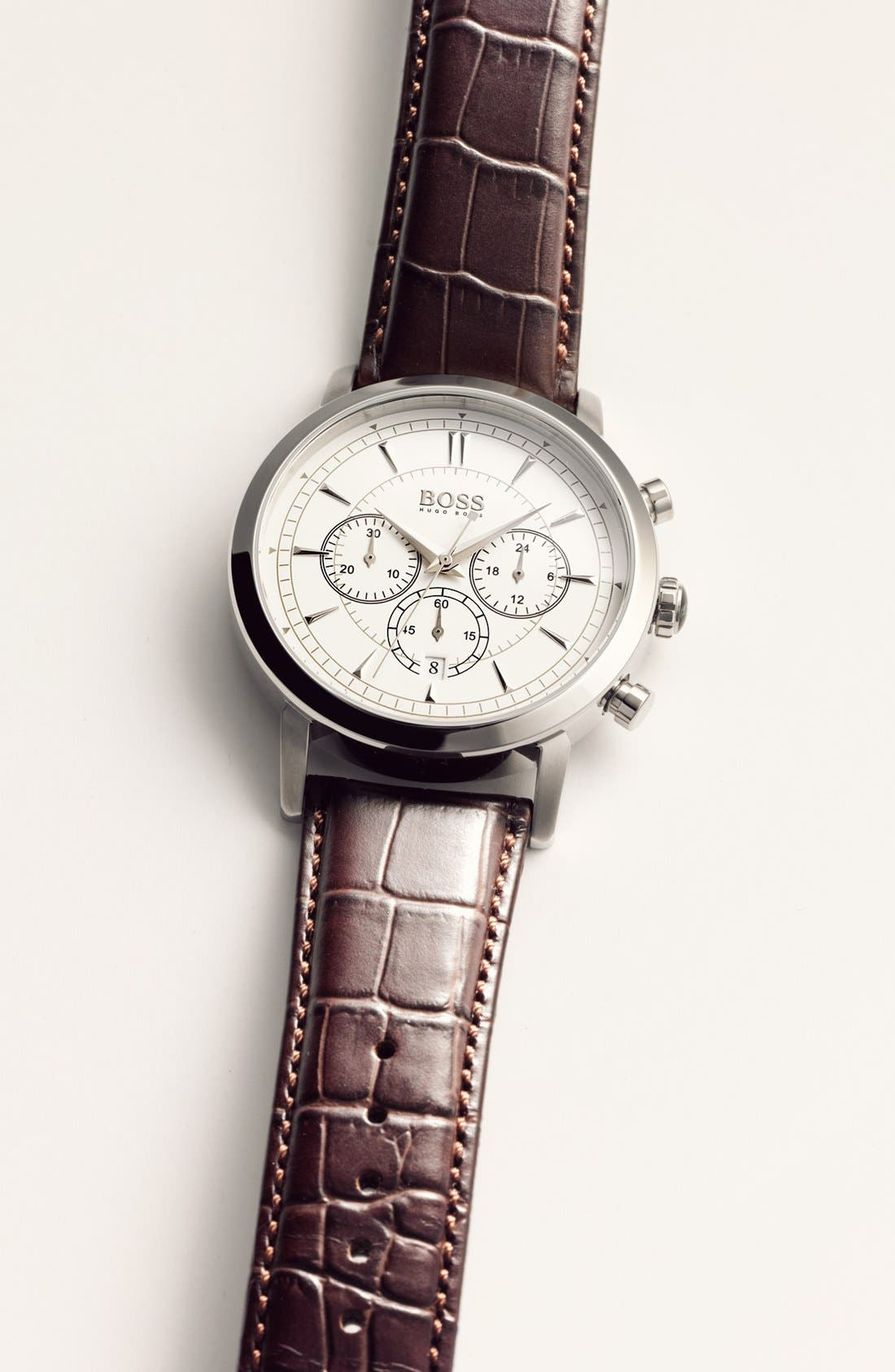 Alternate Image 2  - BOSS HUGO BOSS 'Classic' Round Chronograph Watch, 40mm