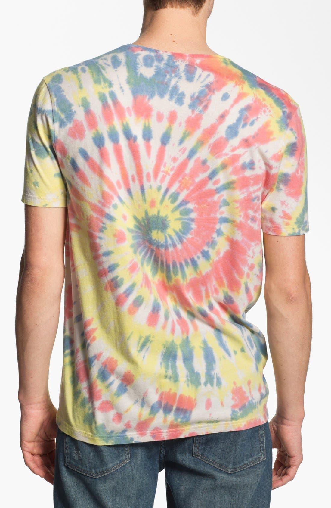 Alternate Image 2  - Topman Tie Dye Crewneck T-Shirt