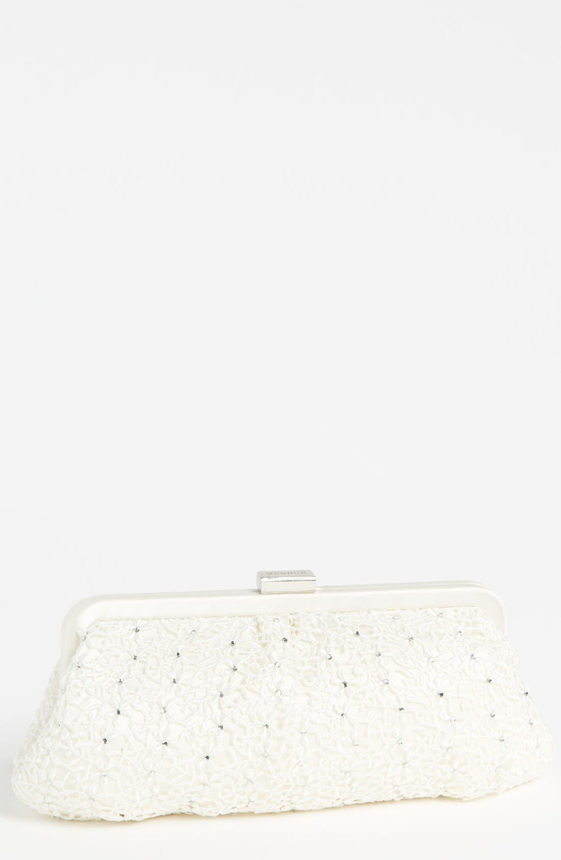 Alternate Image 1 Selected - Menbur 'Crochet Floral' Clutch