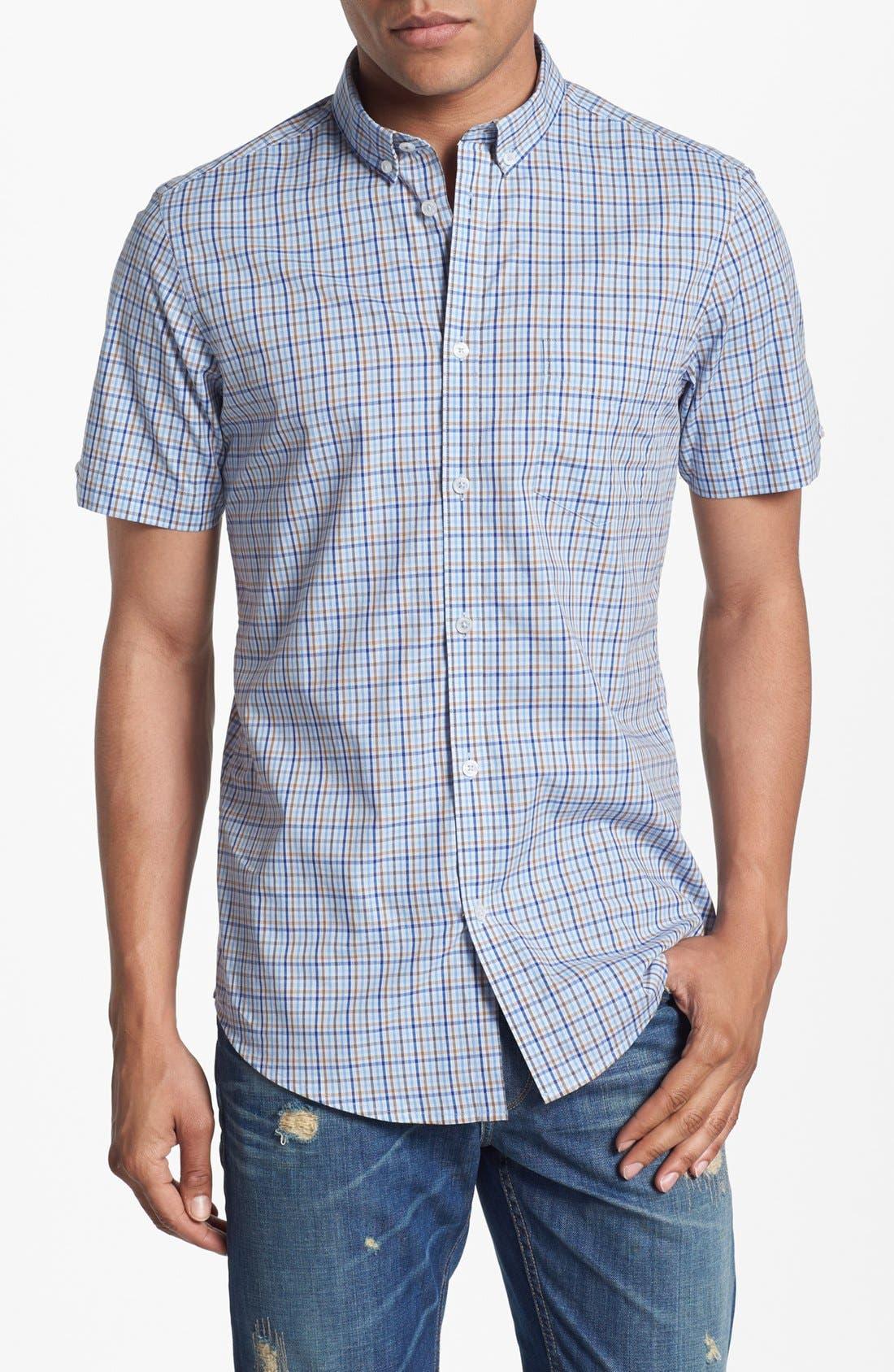 Main Image - Ben Sherman Check Short Sleeve Woven Shirt