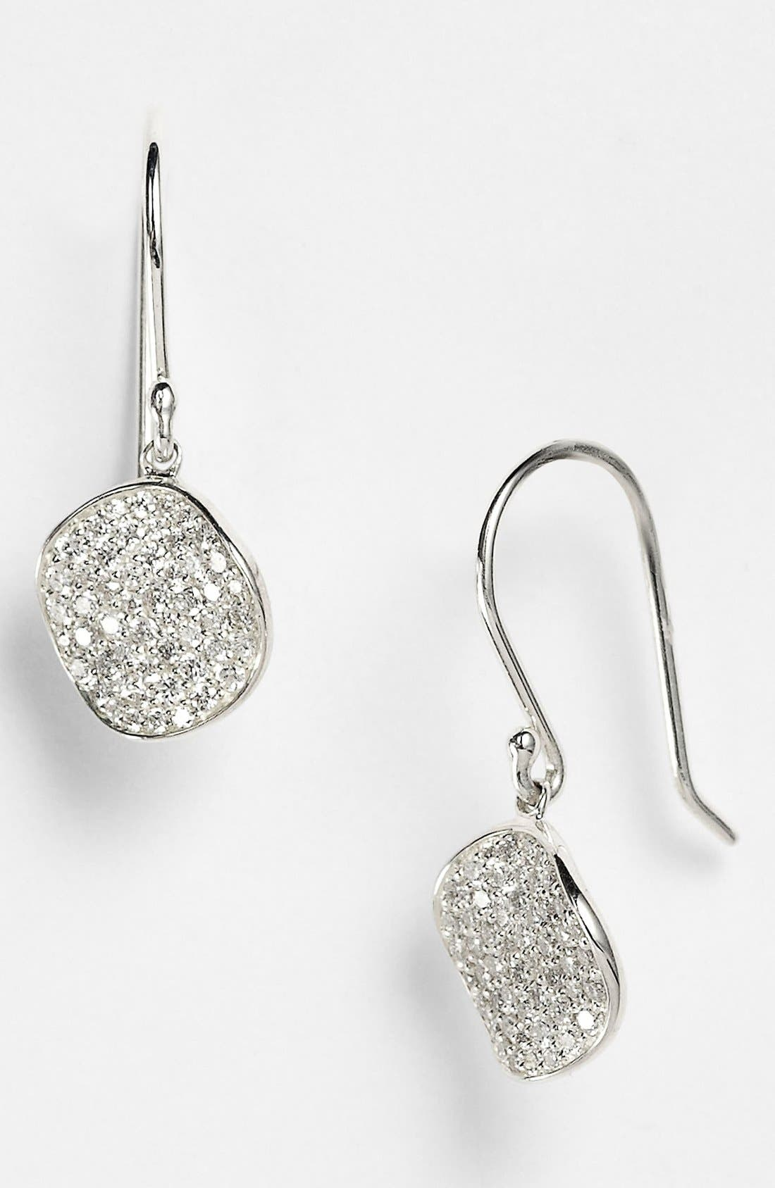 Alternate Image 1 Selected - Ippolita 'Silver Diamond' Pavé Diamond Drop Earrings (Online Only)