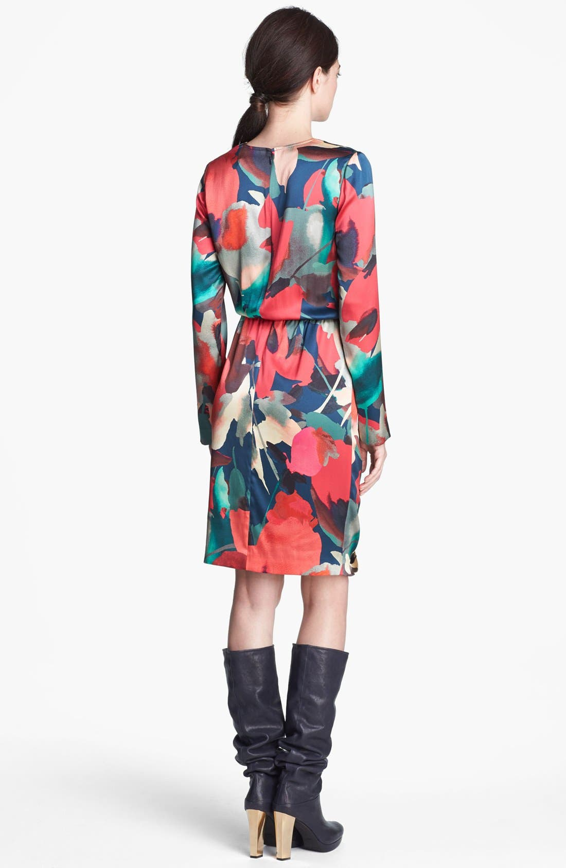 Alternate Image 2  - St. John Collection Abstract Print Silk Charmeuse Dress