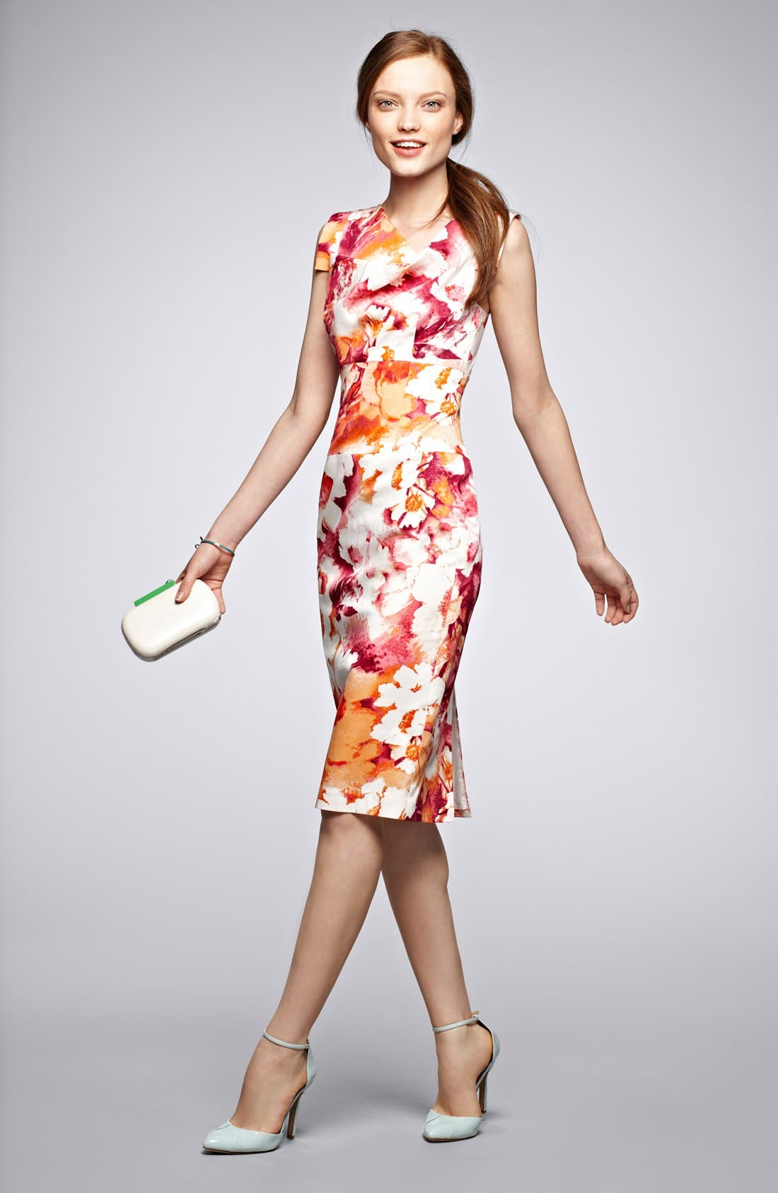 Alternate Image 5  - Black Halo Tab Sleeve Print Sheath Dress