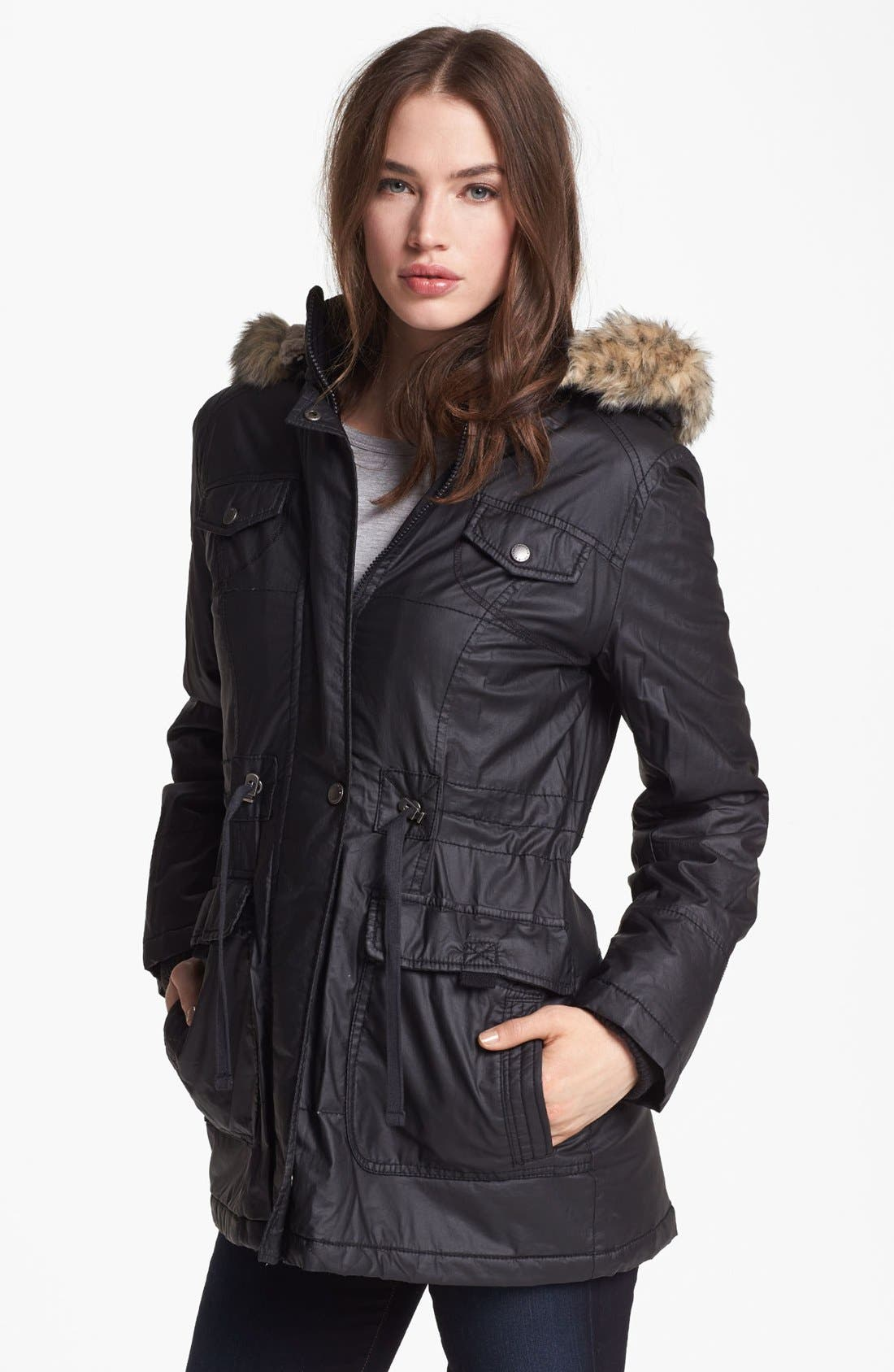 Alternate Image 1 Selected - Buffalo by David Bitton Faux Fur Trim Anorak (Online Only)