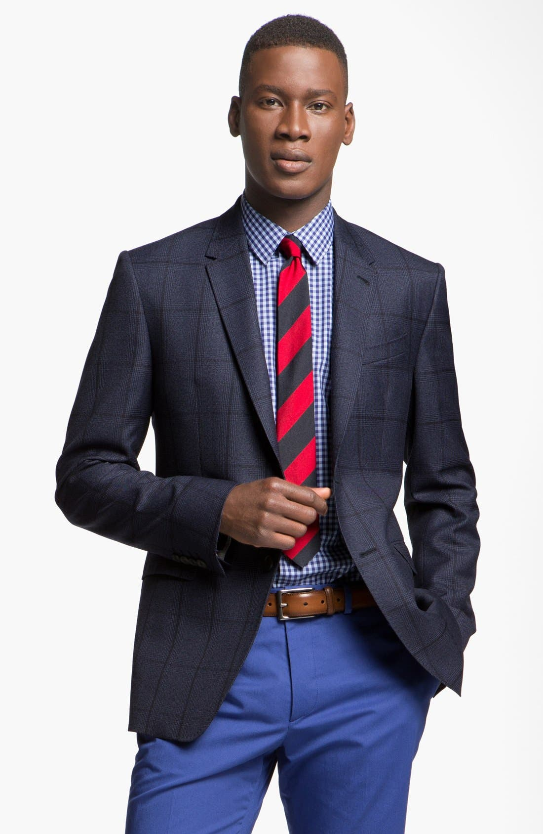 Alternate Image 1 Selected - Paul Smith London Slim Fit Windowpane Plaid Sportcoat