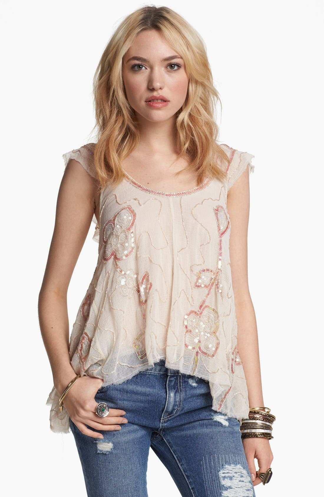 Alternate Image 1 Selected - Free People 'Tritan's Treasure' Embellished Top