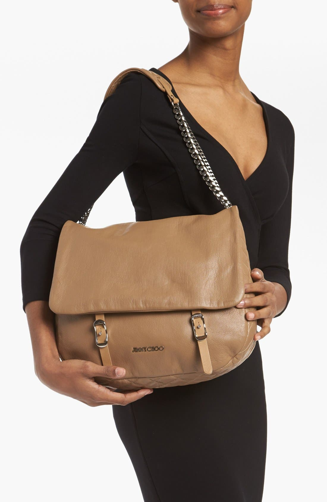 Alternate Image 2  - Jimmy Choo 'Becka Biker - Large' Leather Shoulder Bag