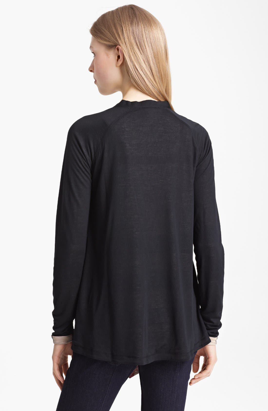 Alternate Image 2  - Burberry Brit Drape Front Cardigan