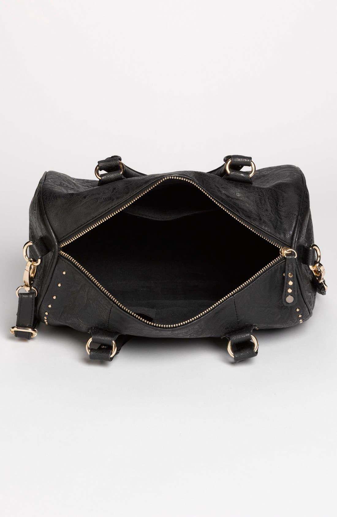 Alternate Image 3  - Cesca 'Del Cesca' Studded Faux Leather Barrel Tote (Juniors)