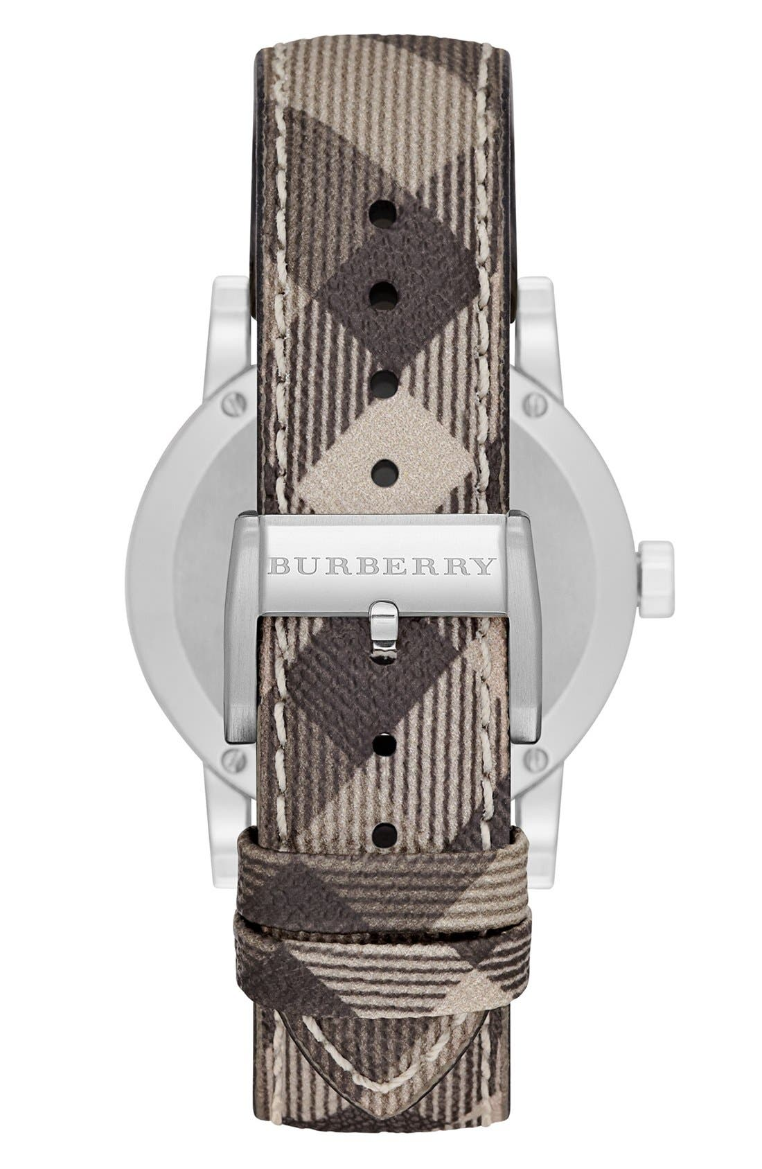 Alternate Image 4  - Burberry Smoke Check Strap Watch, 34mm