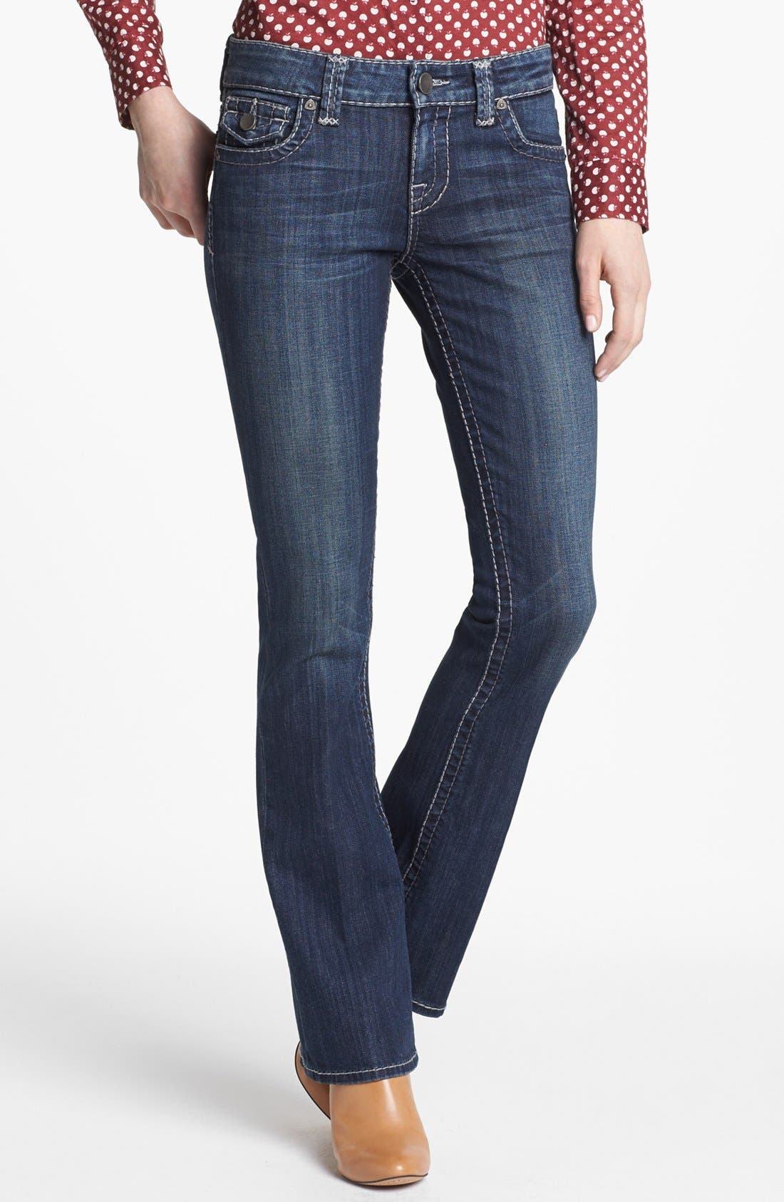 Alternate Image 1 Selected - KUT from the Kloth 'Natalie' Bootcut Jeans (Invisible)