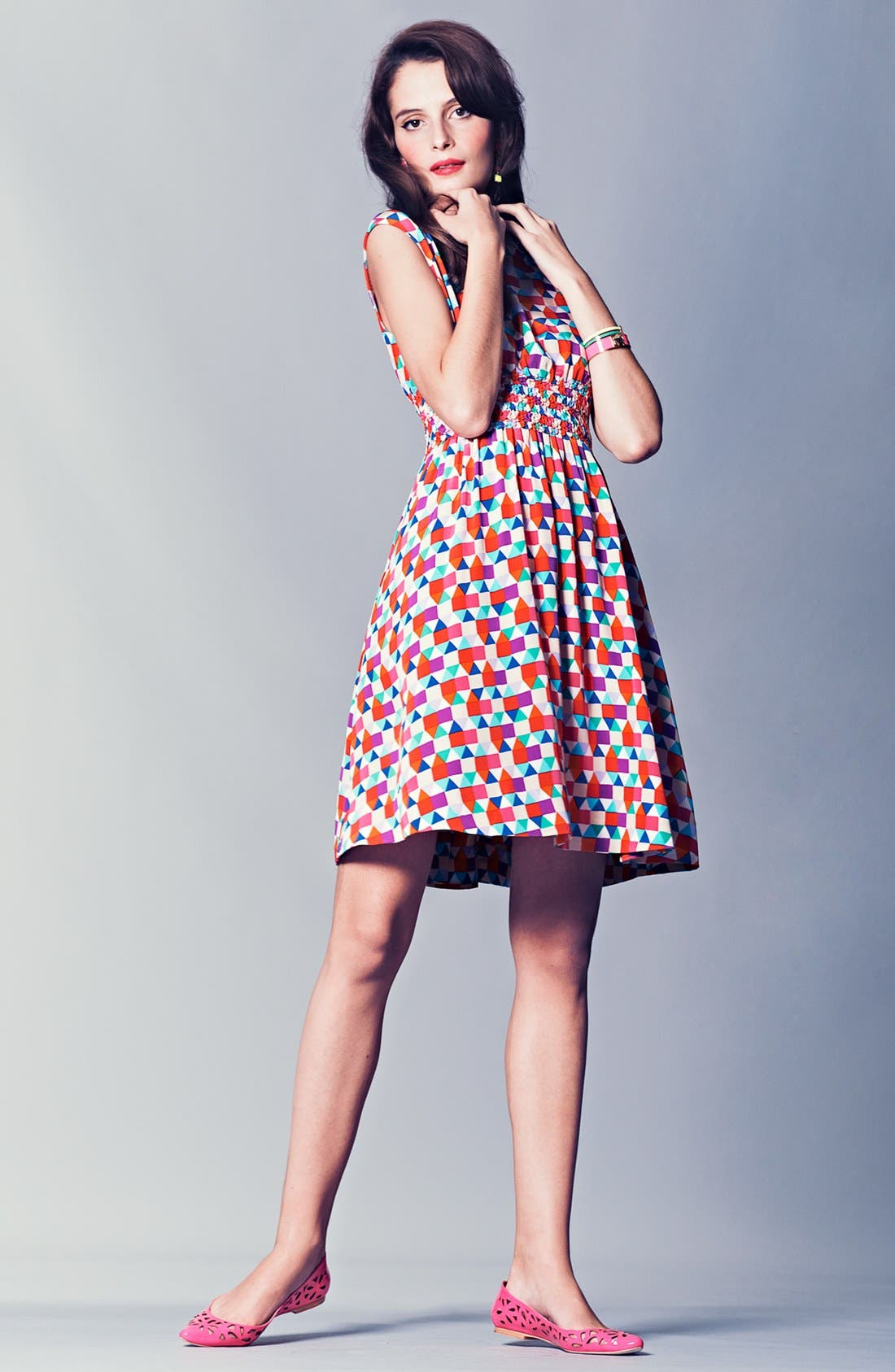 Alternate Image 1 Selected - kate spade new york silk dress & accessories