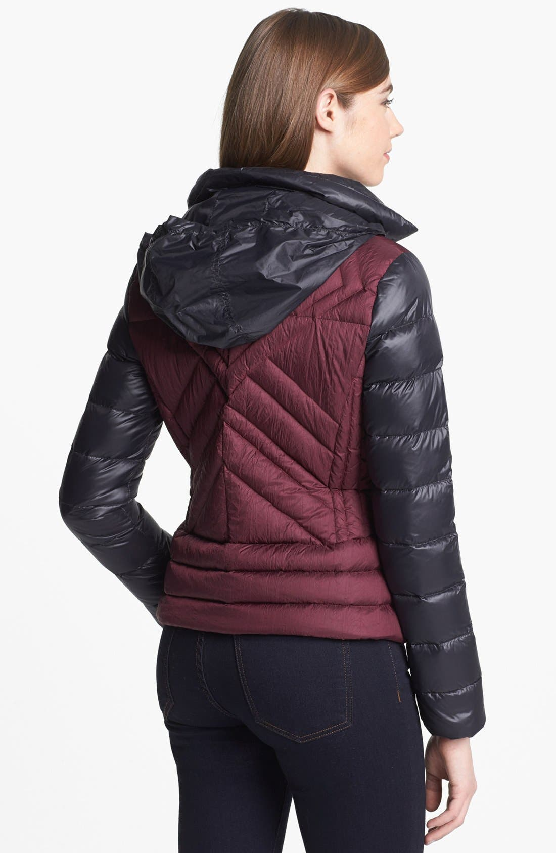 Alternate Image 3  - Bernardo Two Tone Packable Goose Down Jacket