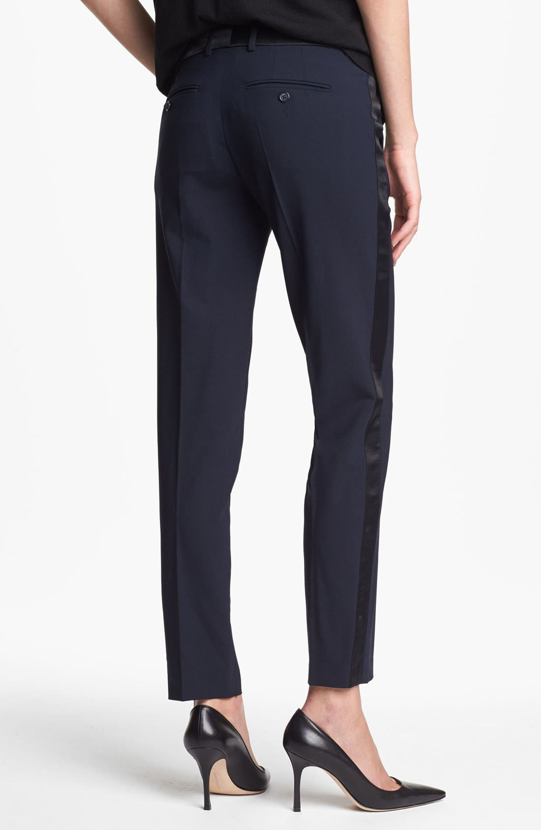 Alternate Image 2  - Vince 'Strapping' Stretch Wool Tuxedo Pants