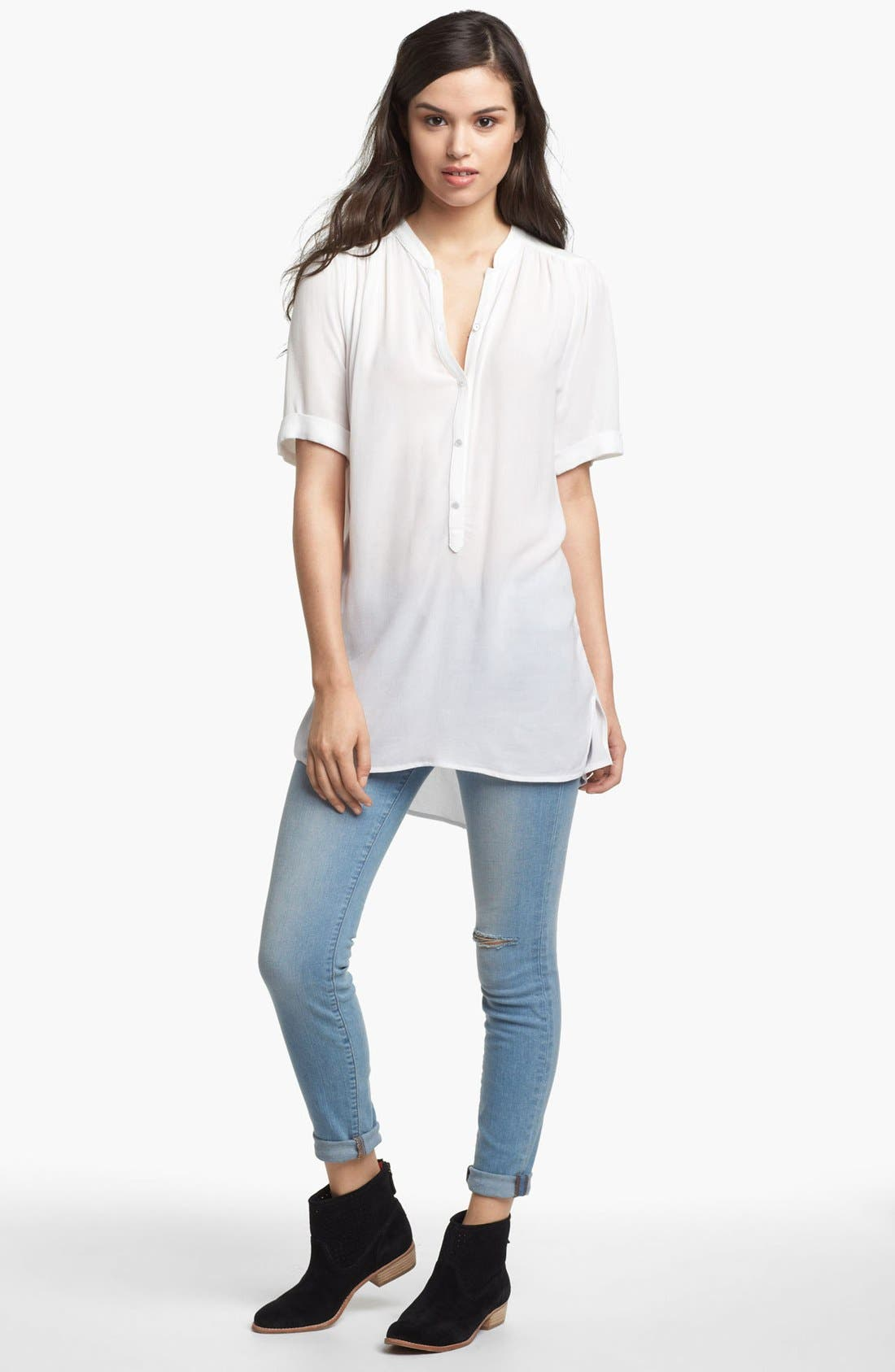 Alternate Image 1 Selected - Ella Moss Tunic & AG Jeans Super Skinny Jeans