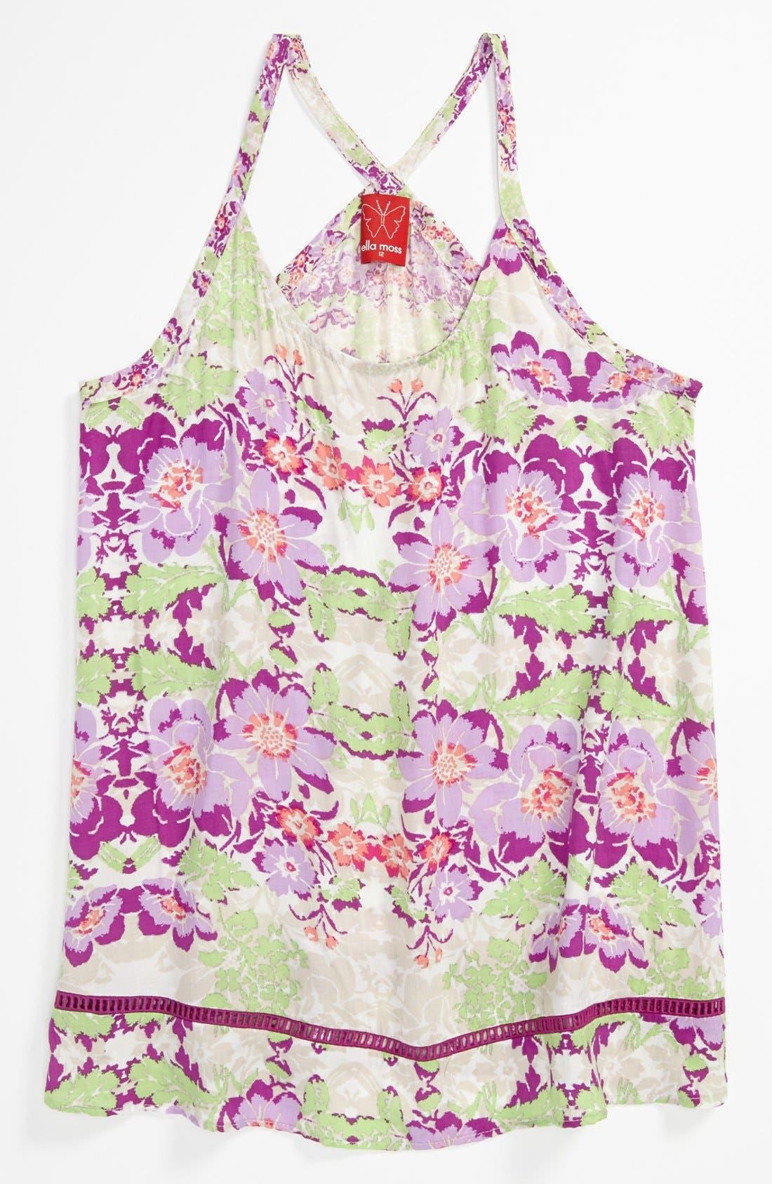 Alternate Image 1 Selected - Ella Moss 'Floral Lei' Tank Top (Big Girls)