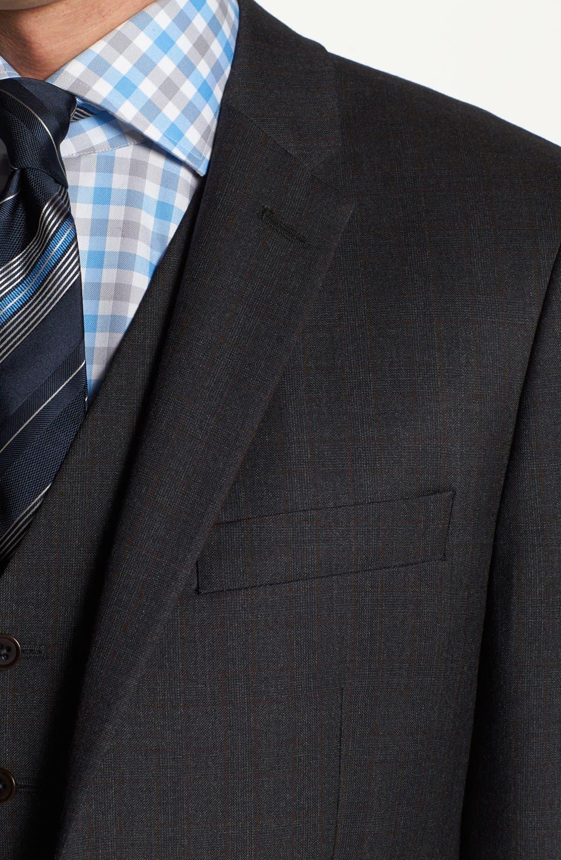 Alternate Image 2  - John Varvatos Star USA 'Townshend' Trim Fit Three Piece Suit