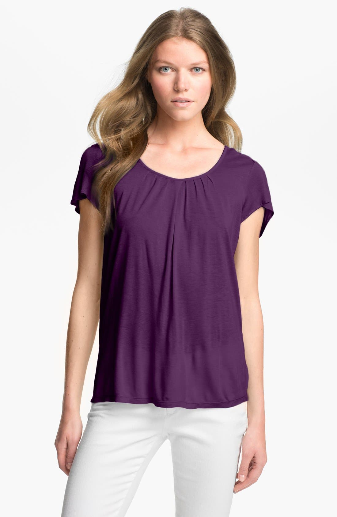 Alternate Image 1 Selected - MICHAEL Michael Kors Flutter Sleeve Top