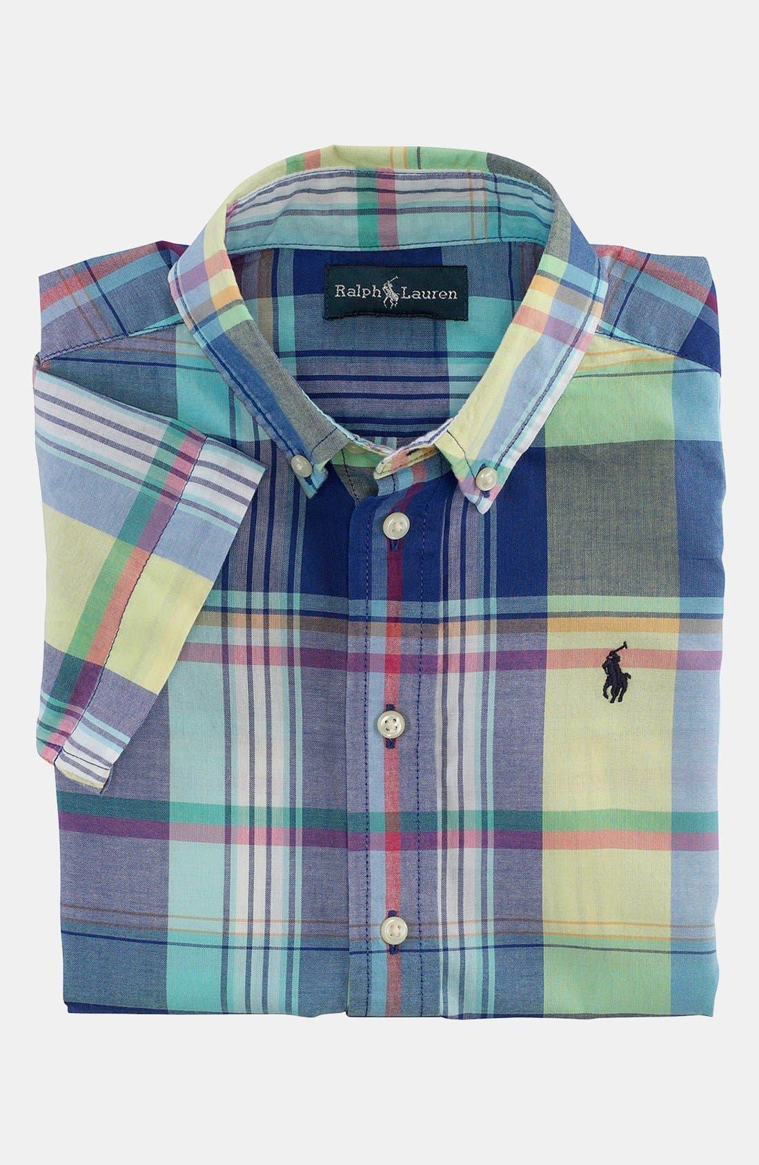 Main Image - Ralph Lauren Short Sleeve Sport Shirt (Toddler Boys)