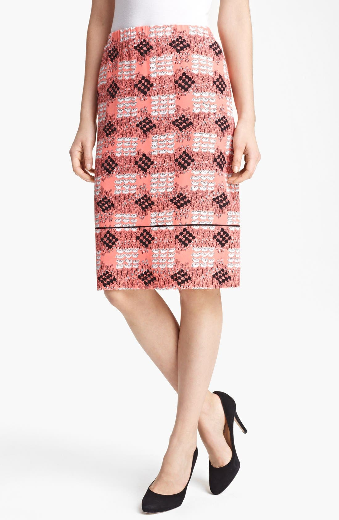 Main Image - Marni Duck Print Silk Skirt