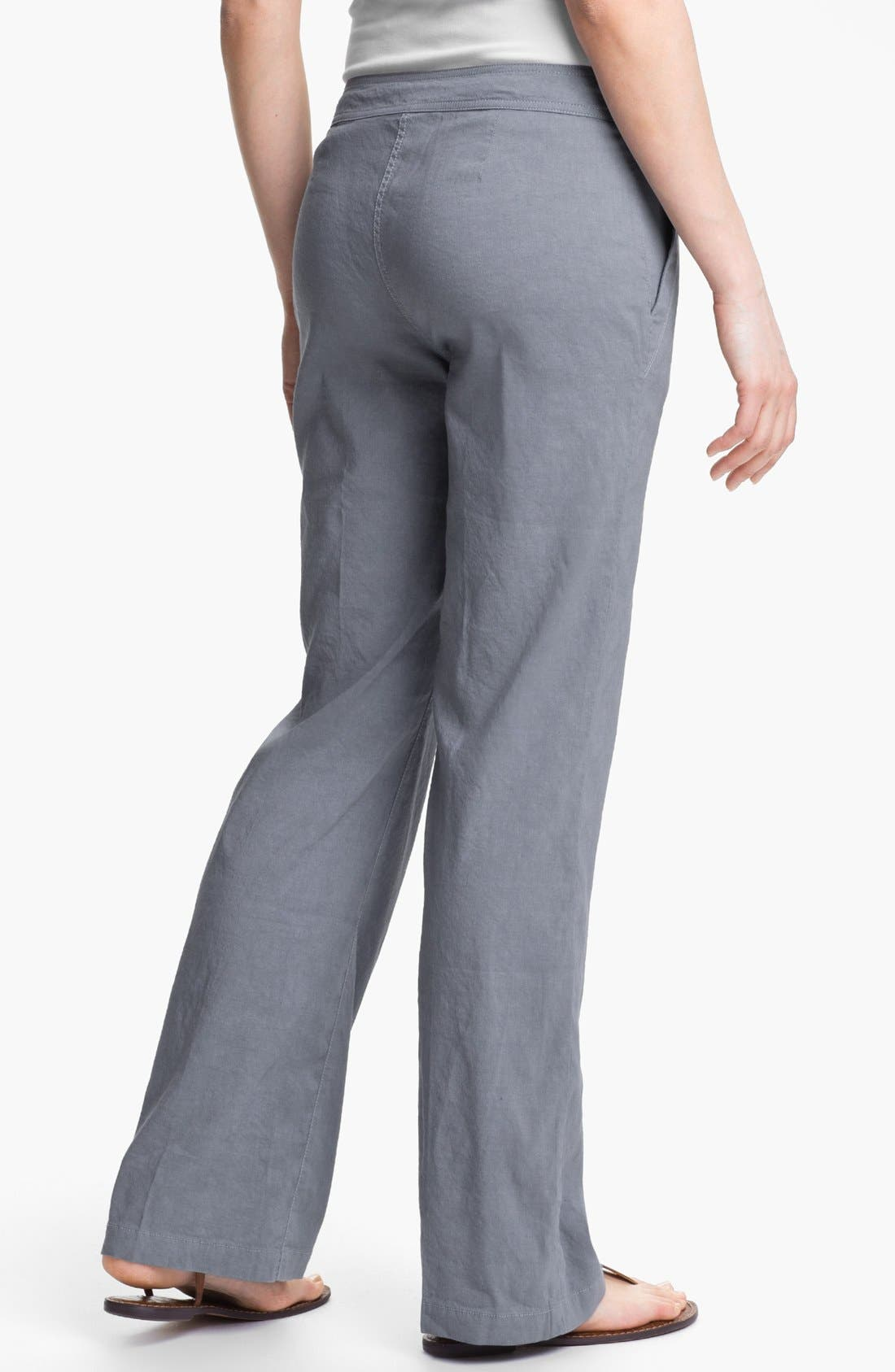 Alternate Image 2  - Eileen Fisher Linen Blend Trousers (Regular & Petite)