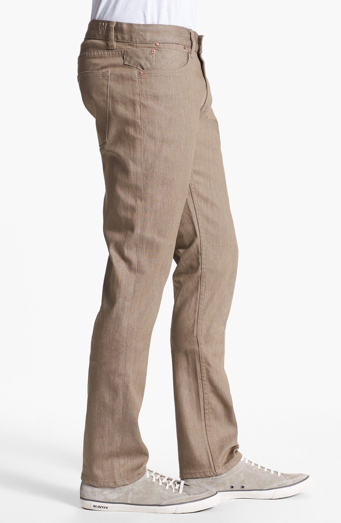 Alternate Image 3  - Williamsburg Garment Company 'S. 4th Street' Skinny Stretch Fit Jeans (Raw Tan)