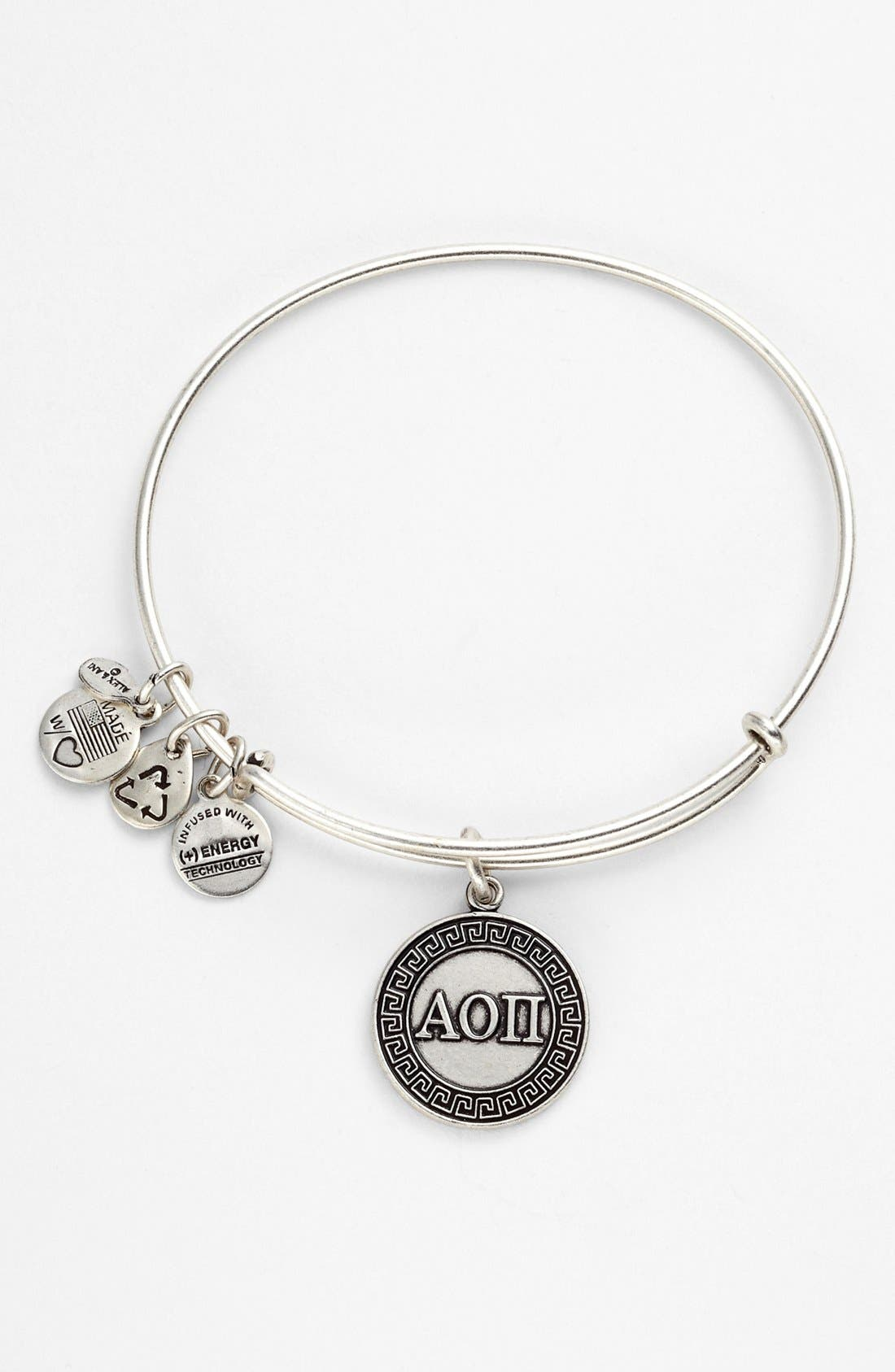 Alternate Image 1 Selected - Alex and Ani 'Alpha Omicron Pi' Expandable Wire Bangle