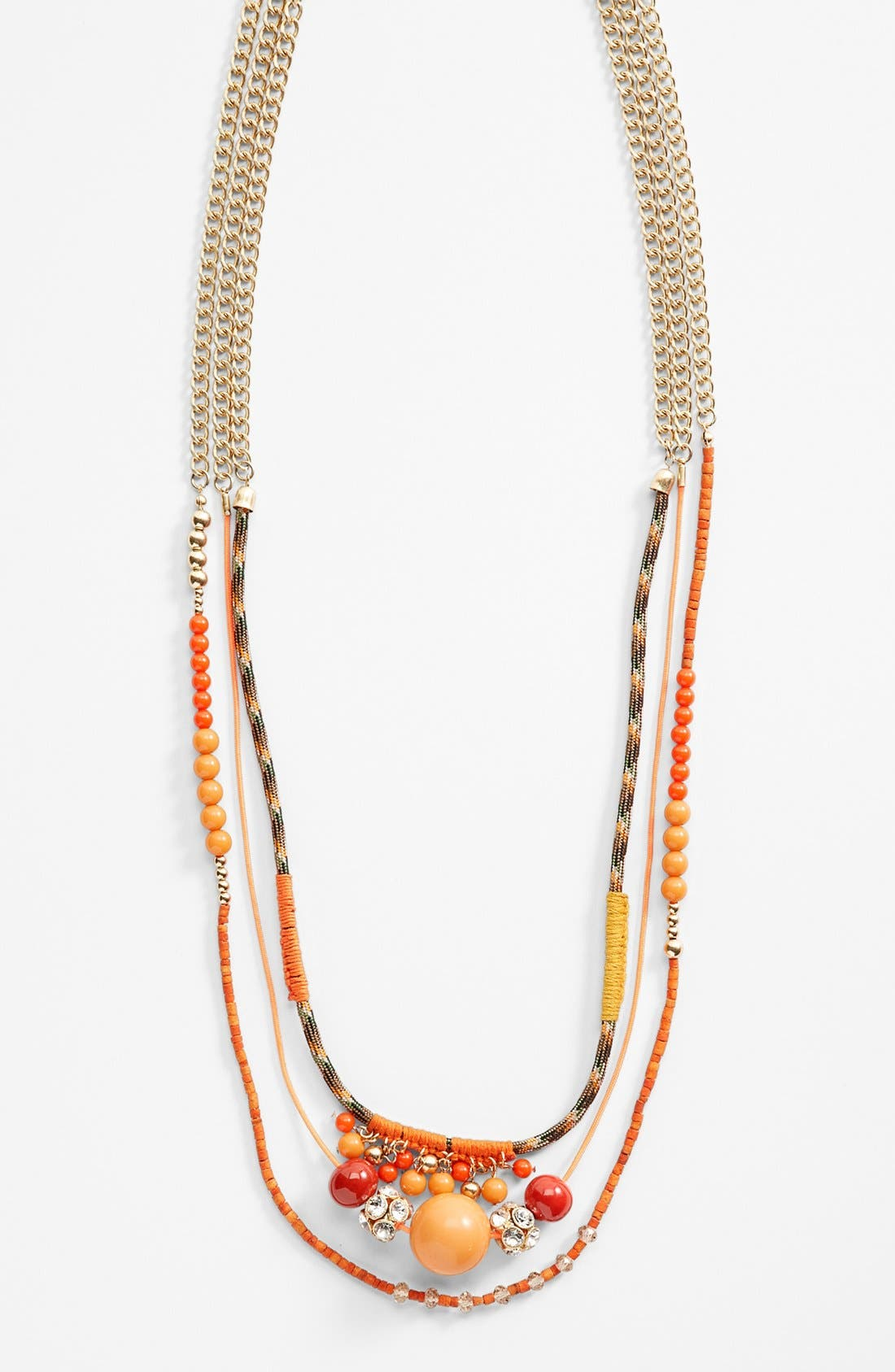 Main Image - Lydell NYC Mixed Media Multistrand Necklace